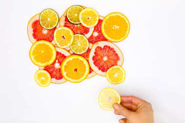 Stylish fruits decoration background