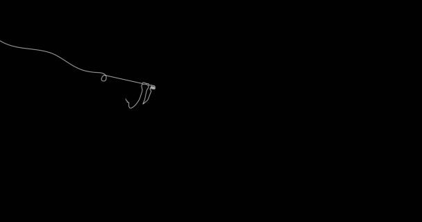 Golfer Motion Graphic Design mit beweglicher Einseillinie.