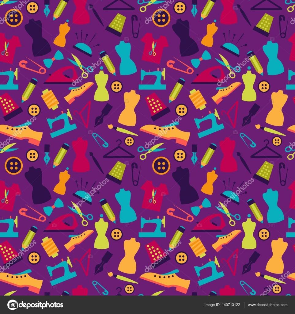 Nahtlose Muster mit Nähzeug — Stockvektor © Elonalaff #140713122