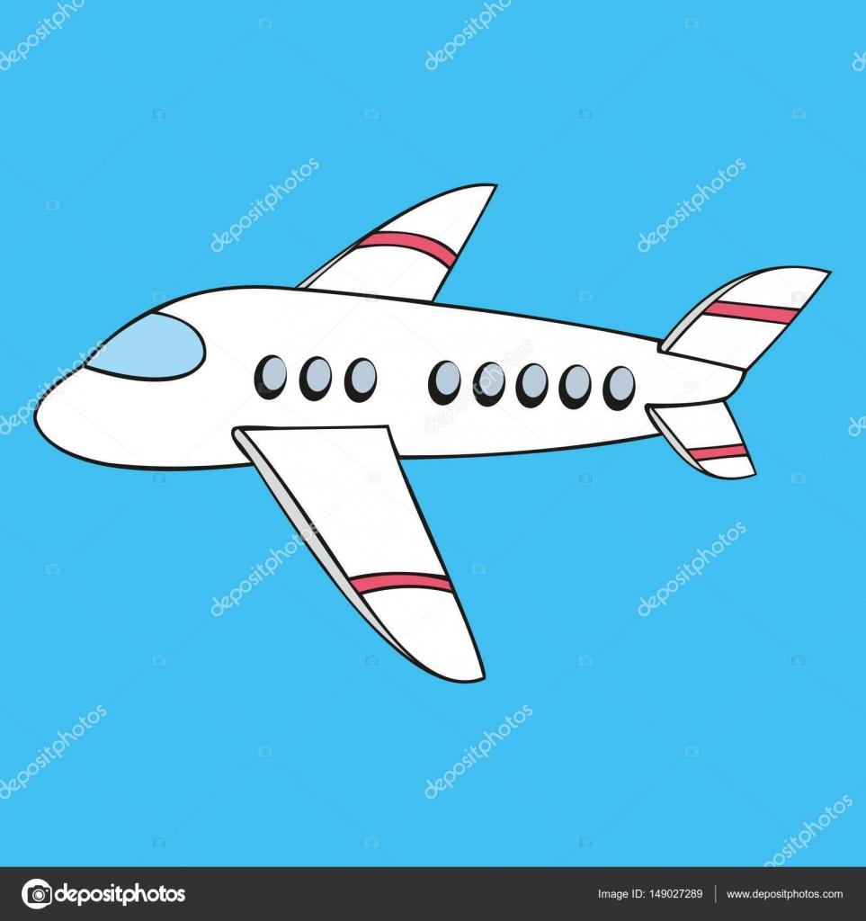 Avion stylis es dans le style du dessin anim image - Dessin avion stylise ...