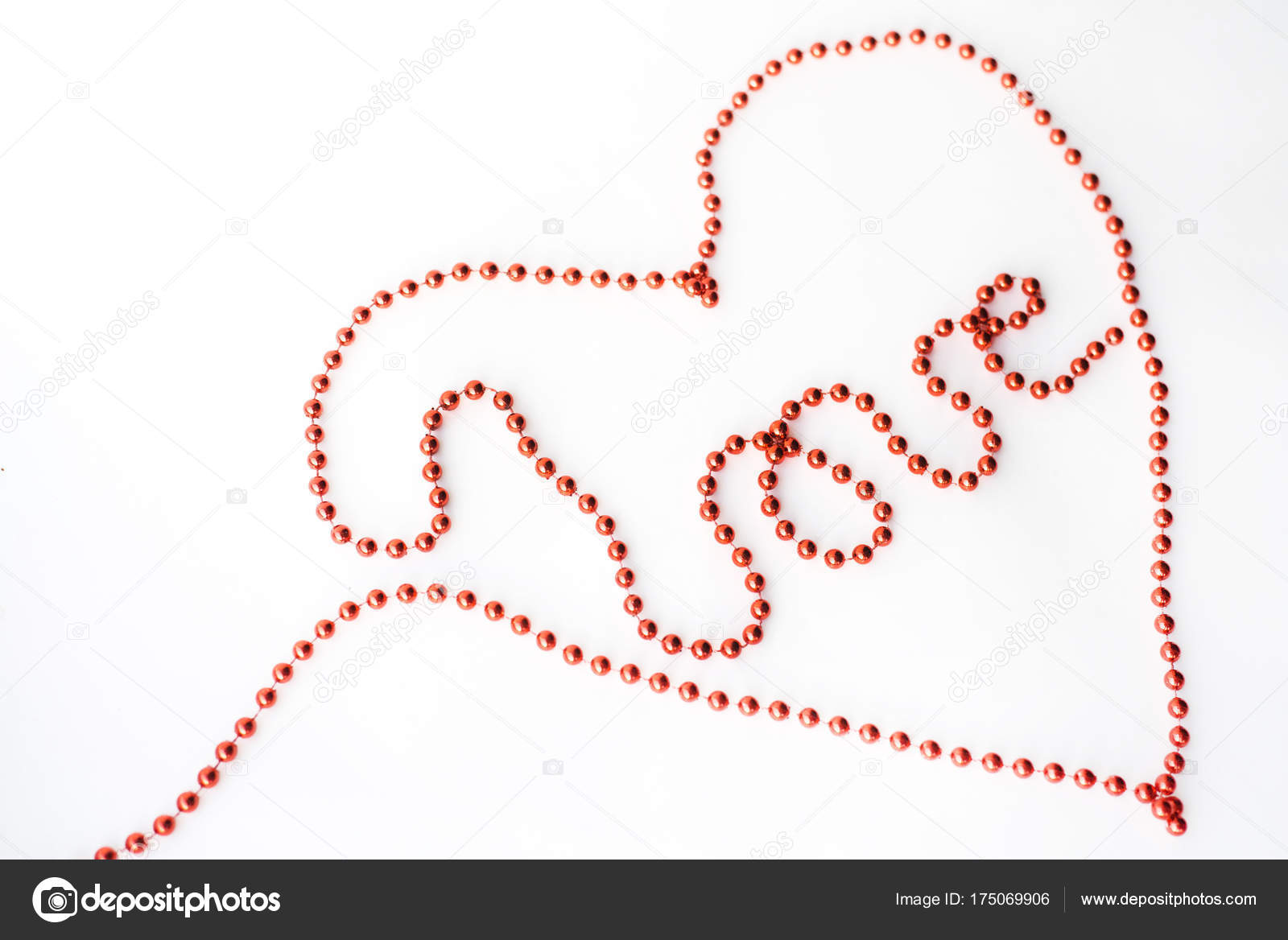 The Word Love And Symbol Heart Declaration Of Written With Red