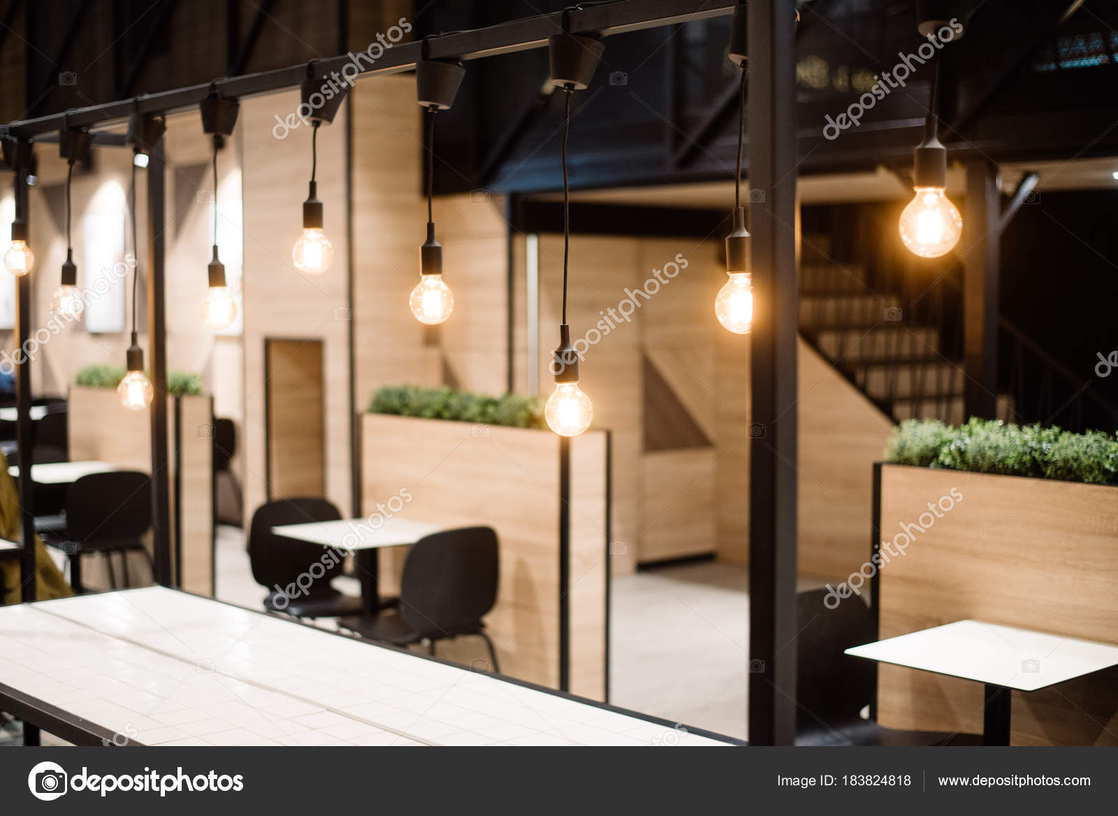 Rustic Stylish Interior Of A Cozy Restaurant Or Cafe Stock Photo C Pogrig001 Gmail Com 183824818