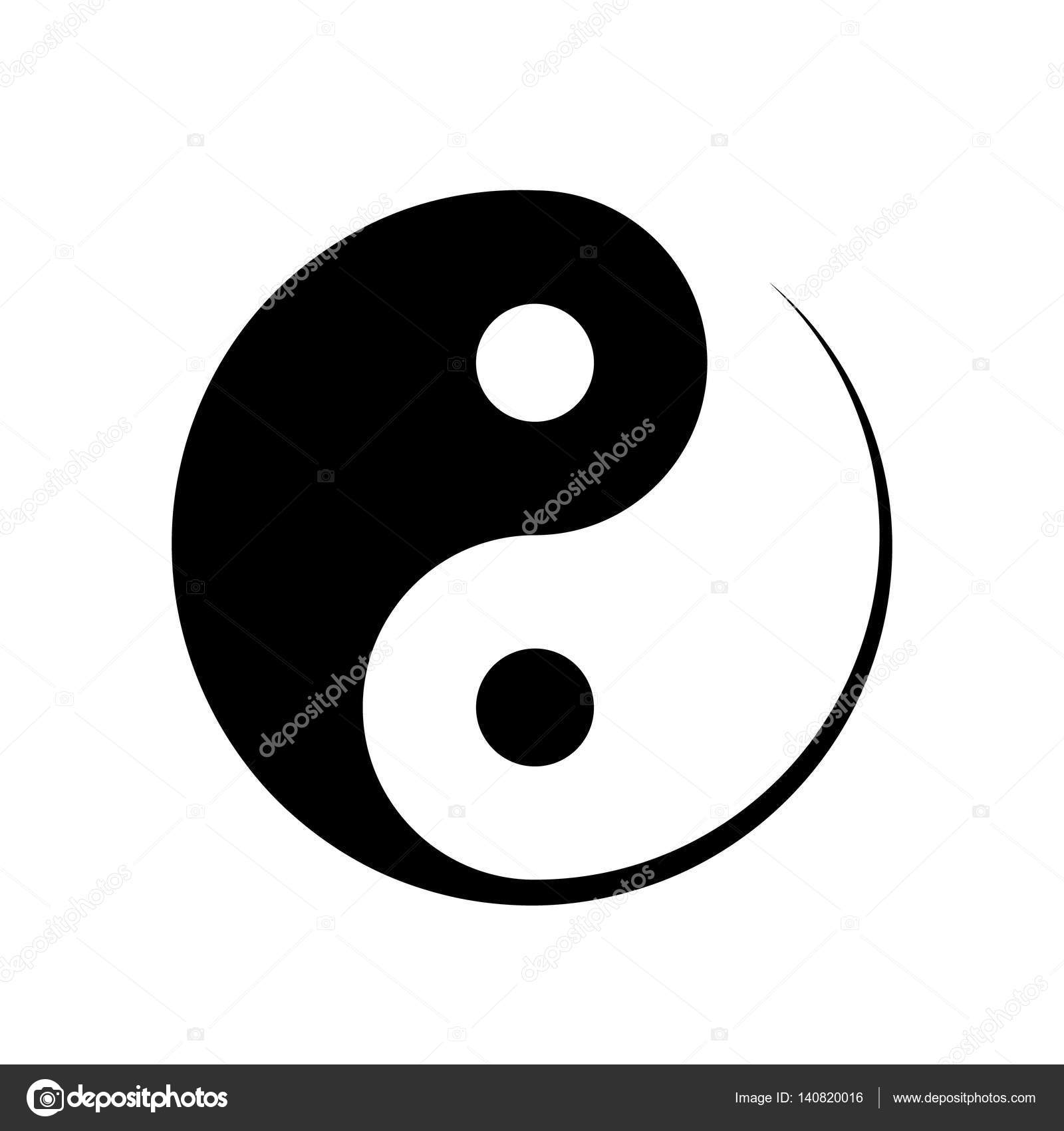 Black And White Yin Yang Symbol Stock Vector An 140820016