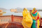 Fotografia Jal Mahal(Water Palace) con Man Sagar Lake a Jaipur, India
