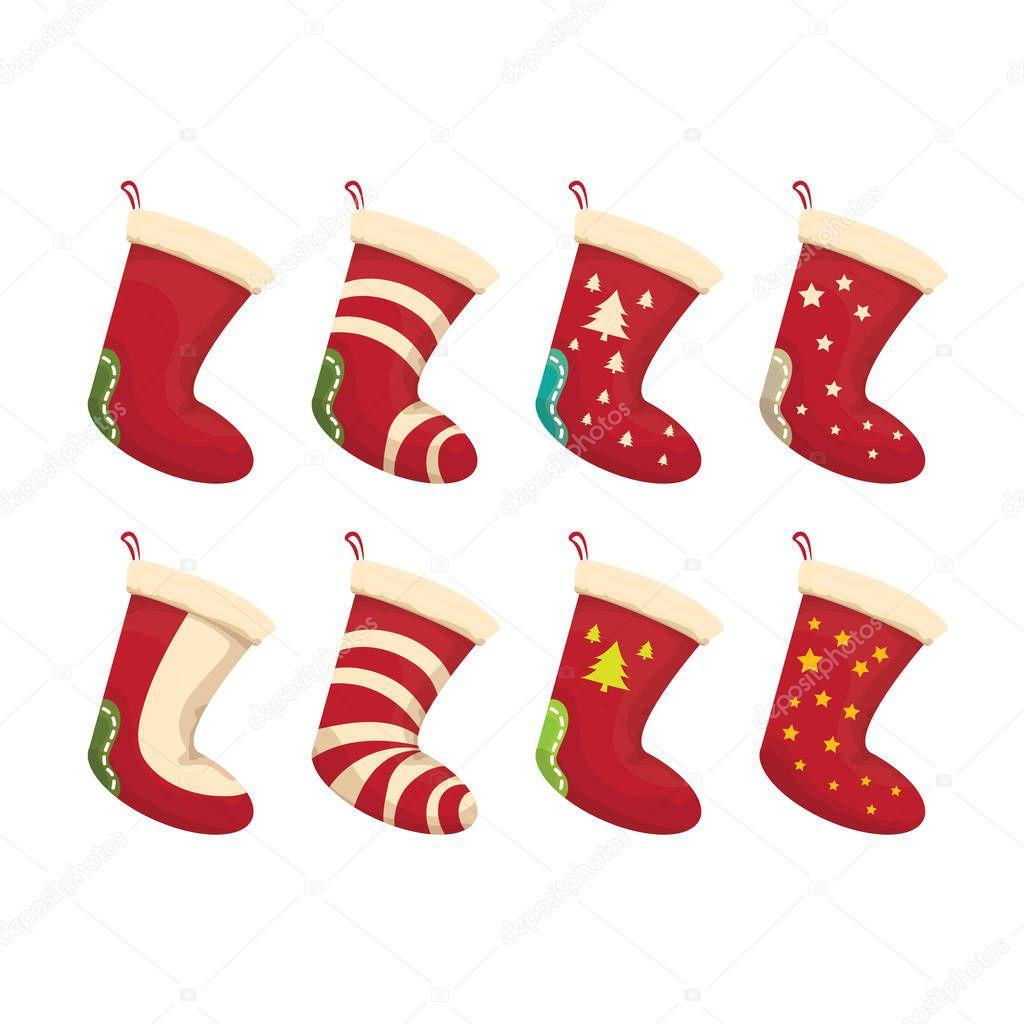 Vector de dibujos animados lindo media de la Navidad — Vector de ...
