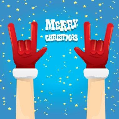 Christmas Rock n roll greeting card.