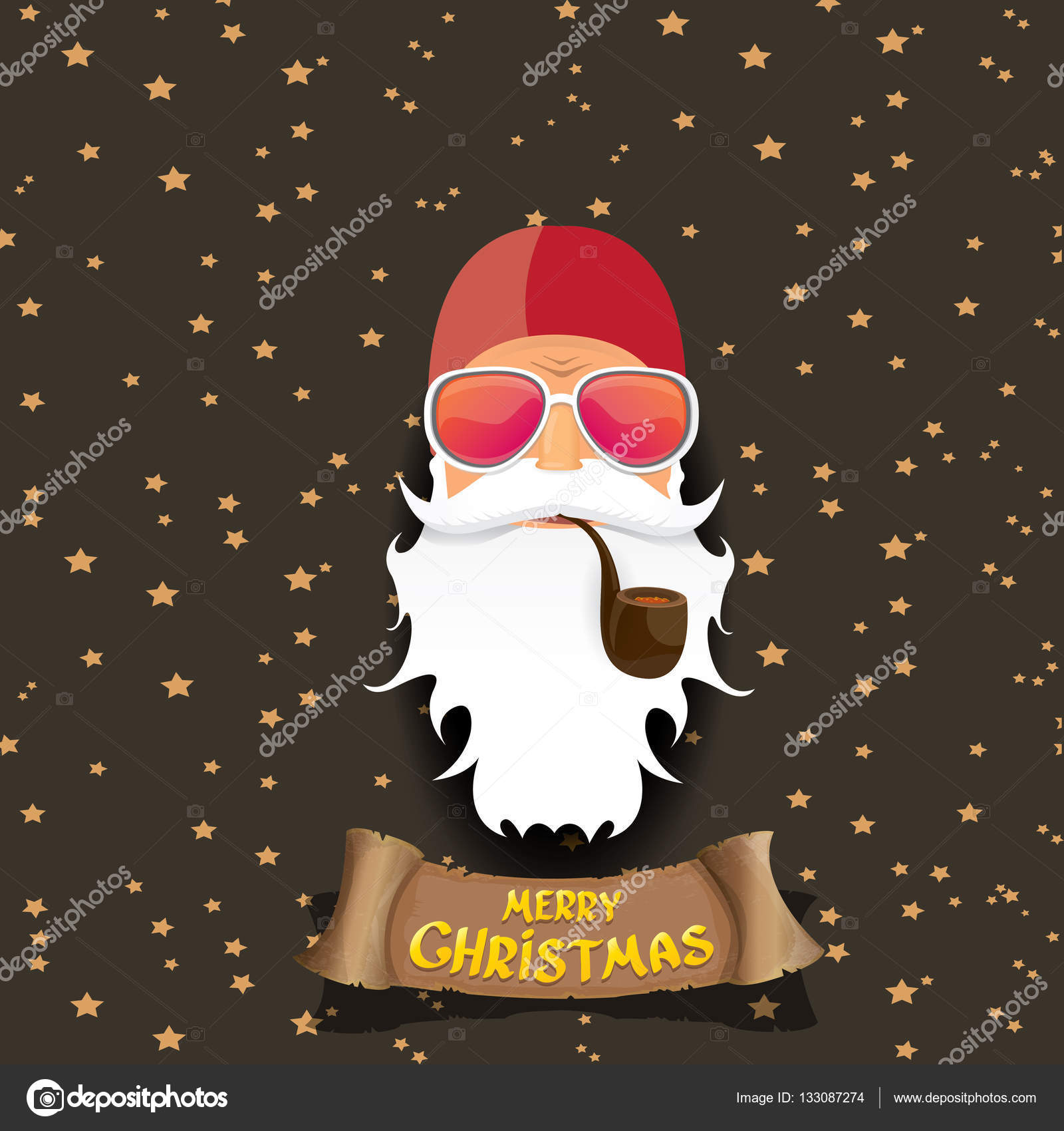 Vektor Rock \' n roll Santa claus — Stockvektor © zm1ter #133087274