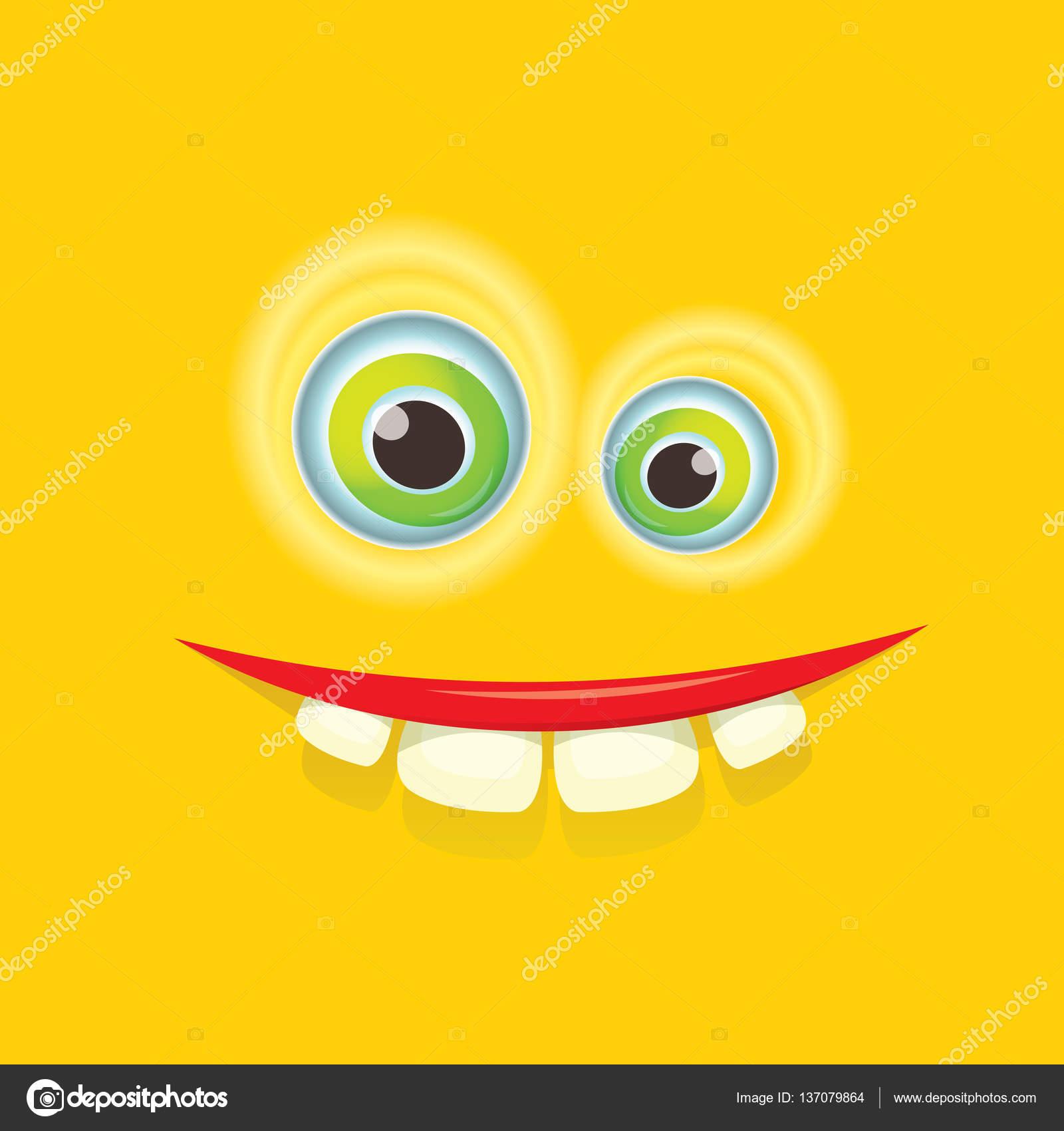 Vektor orange lustiges Monster Gesicht — Stockvektor © zm1ter #137079864