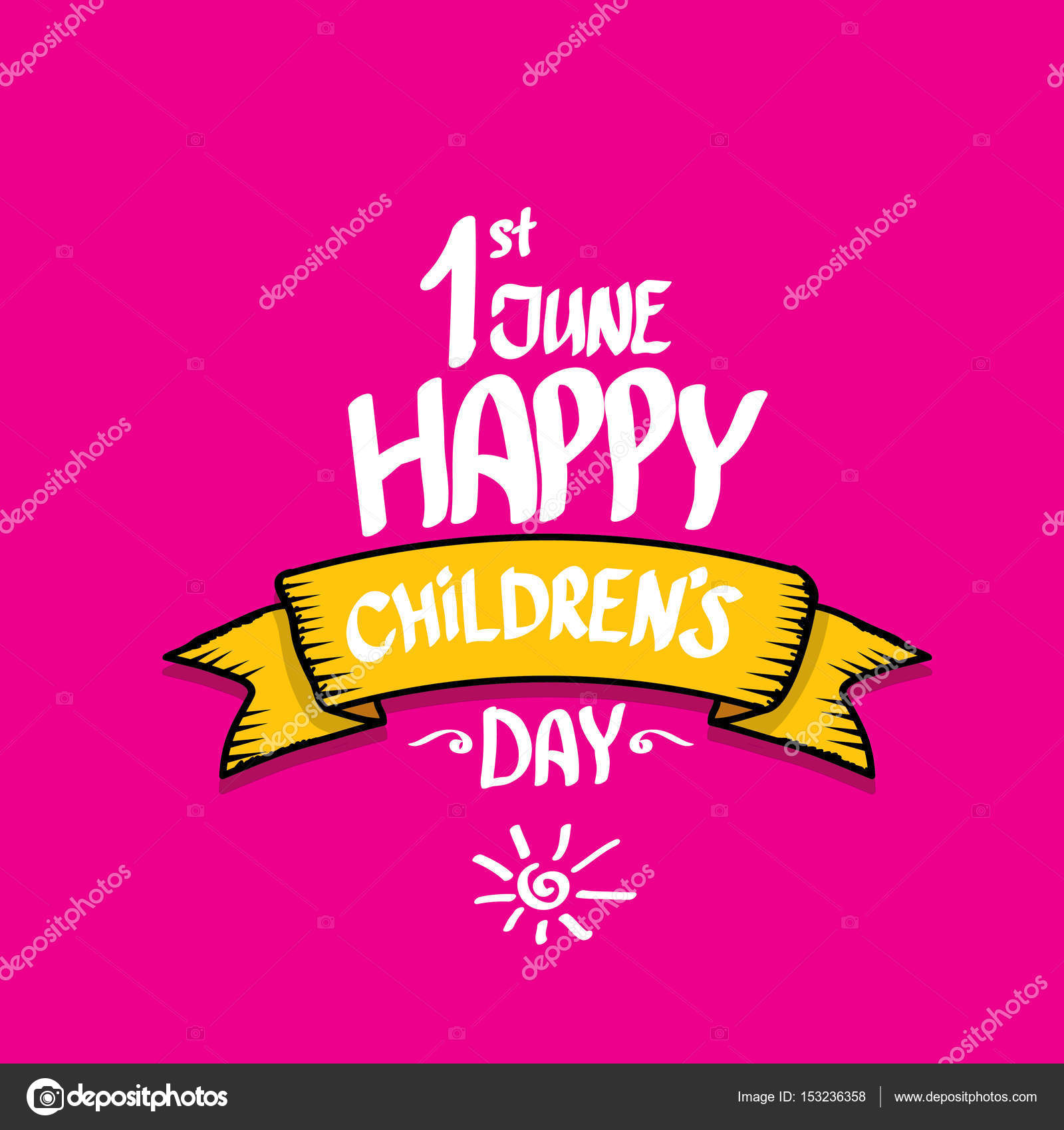 1 June International Childrens Day Background Stock Vector