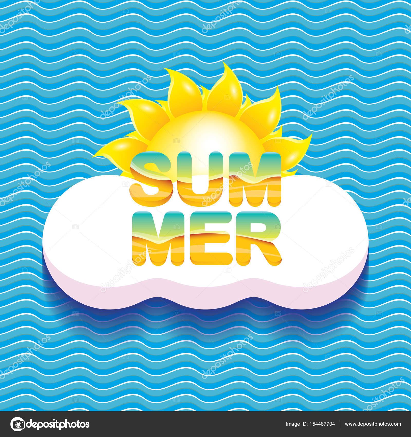 Vektor Sommer Verkauf helle Label-Design-Vorlage — Stockvektor ...