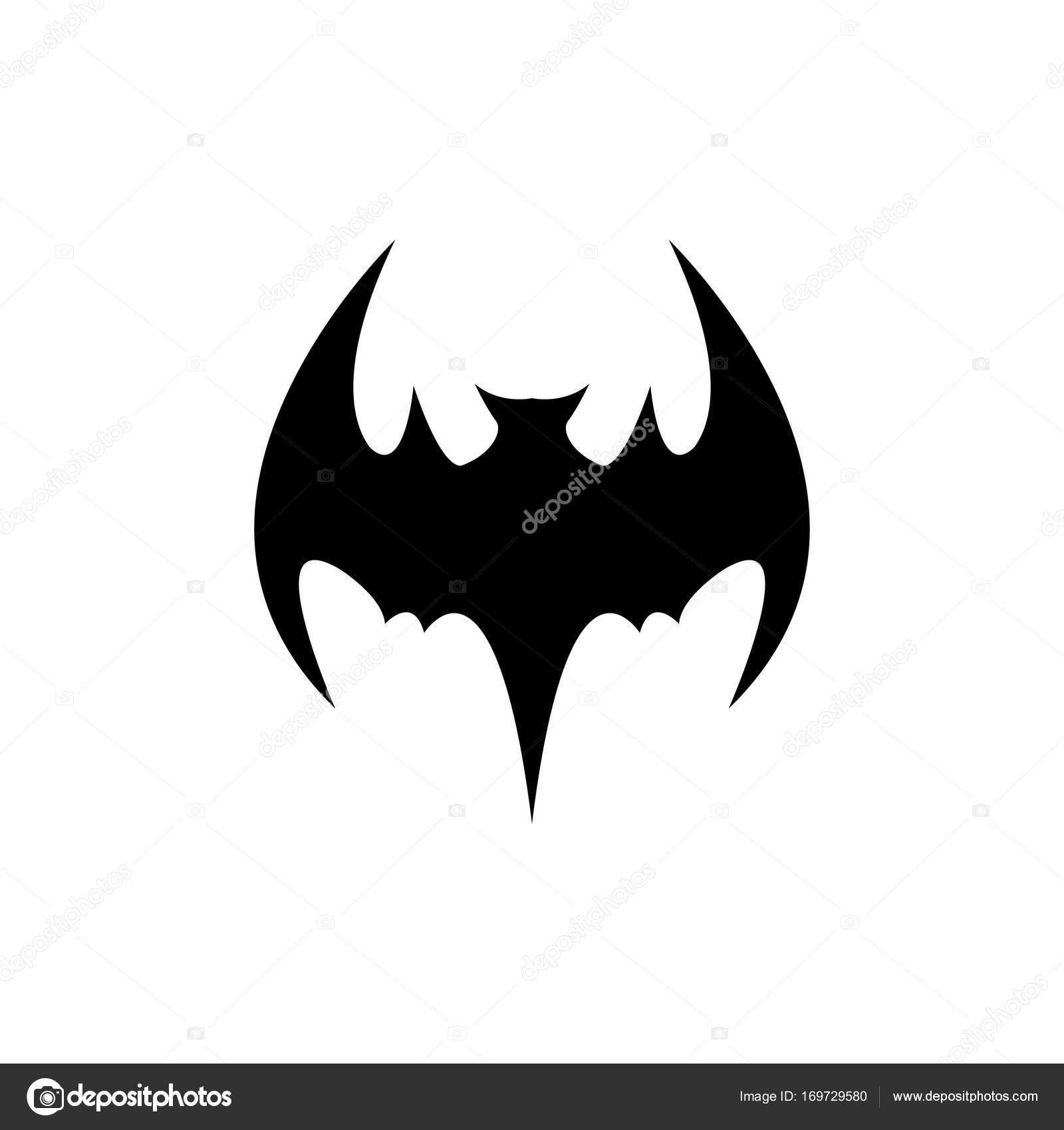 Vektor-Halloween schwarze Fledermaus Tier Symbol oder Zeichen ...