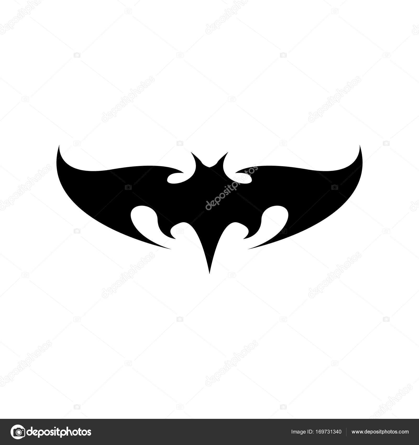 Vector Halloween Pipistrello Nero Animale Icona O Segno Isolato Su