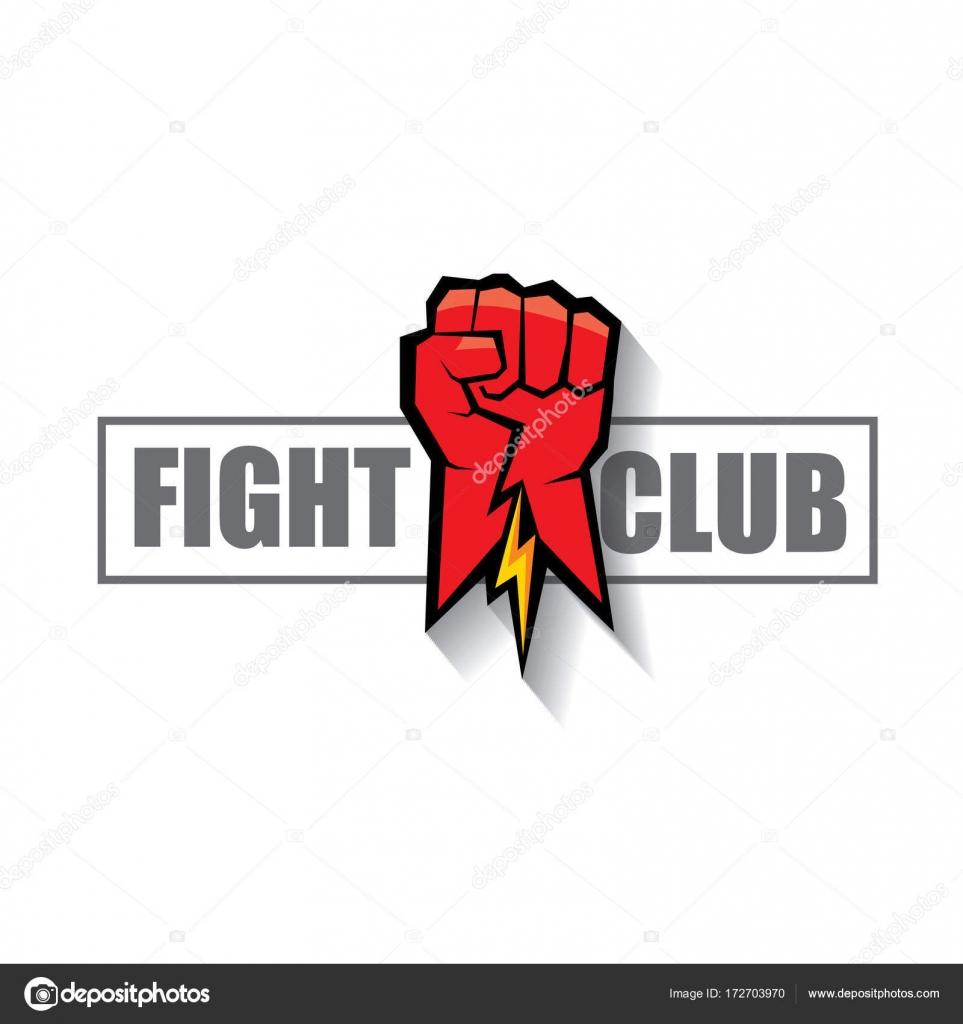 Club Vektör Logosu Beyaz Arka Plan üzerinde Izole Kırmızı Adam