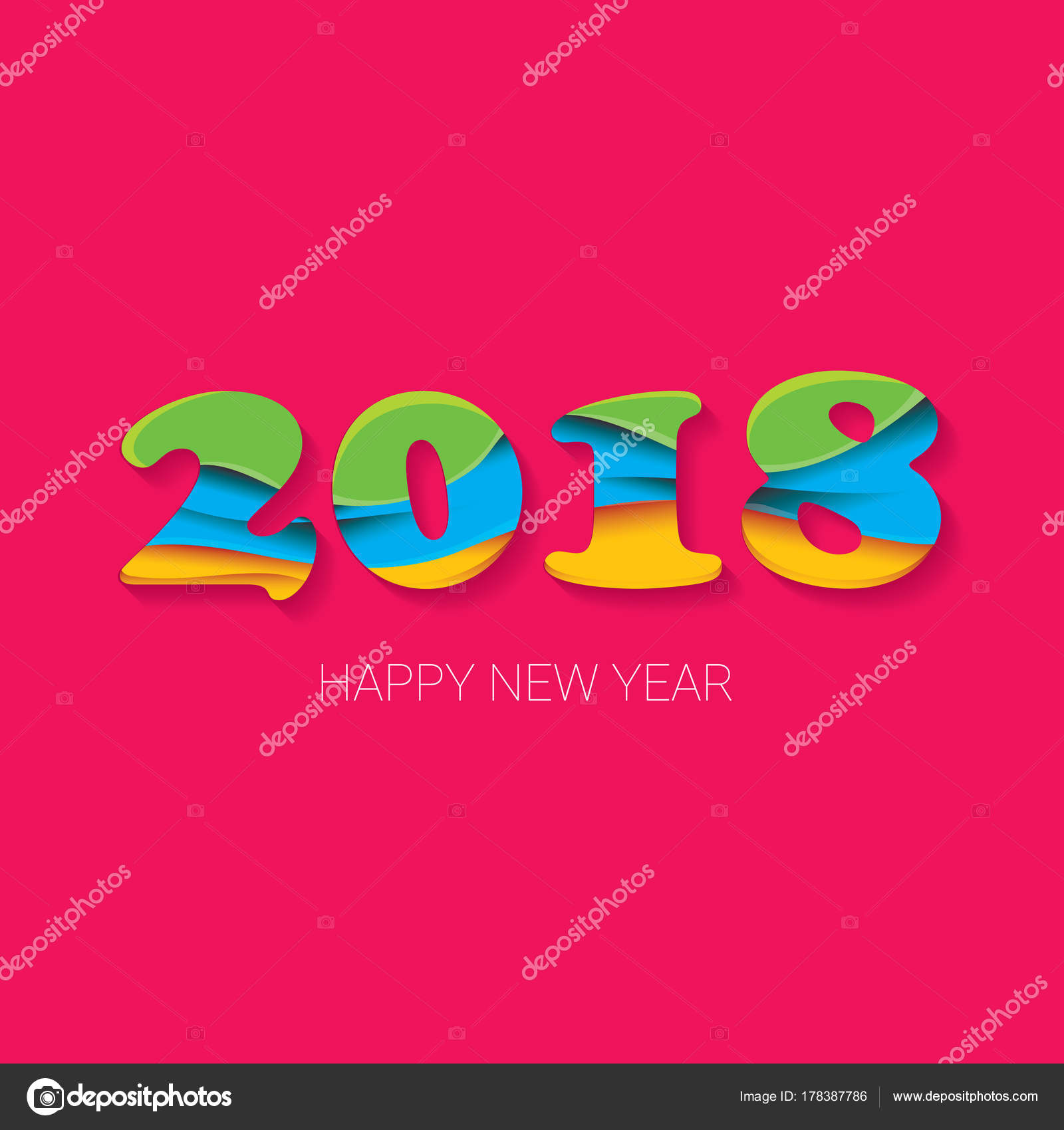 Creative greetings text choice image greeting card examples 2018 happy new year creative design numbers and greeting text 2018 happy new year creative design kristyandbryce Choice Image