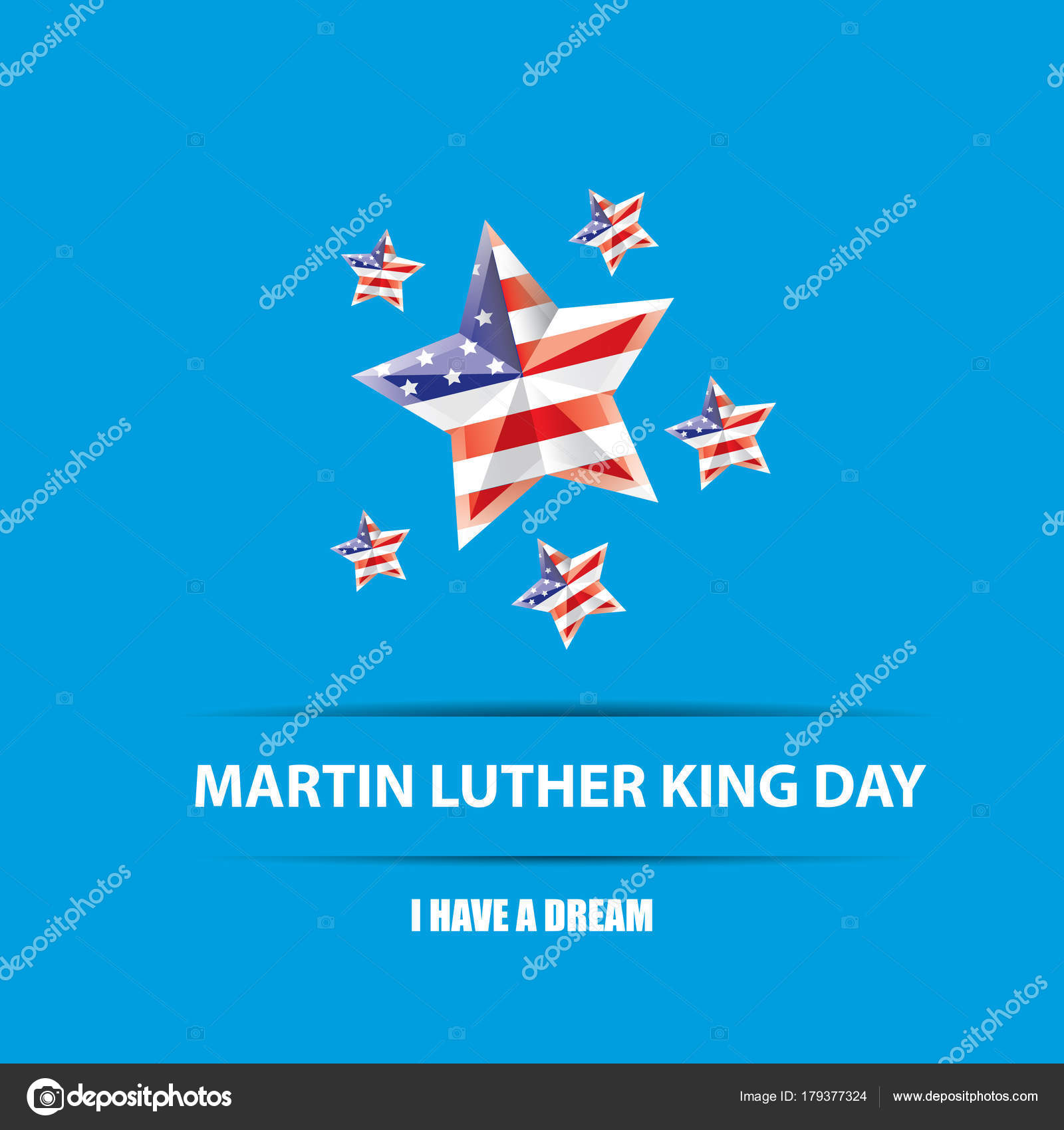 Vector Martin Luther King Jr Day Us Sticker Or Label Isolated On
