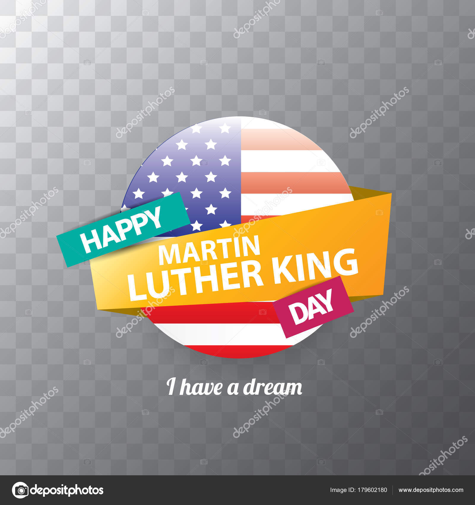 Vector Martin Luther King Jr Day Sticker Or Label Isolated On