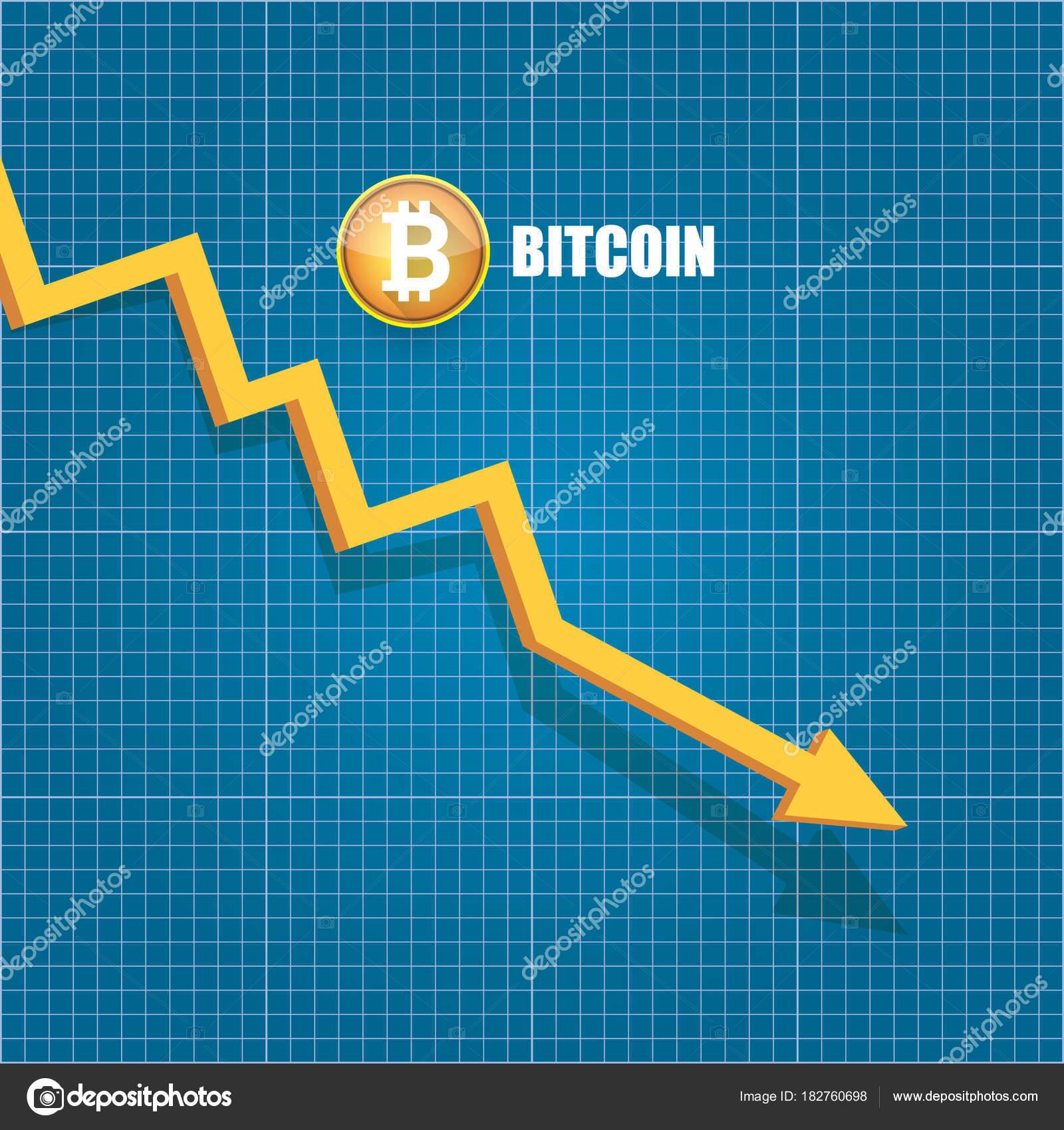 Vector bitcoin market crash graph on blueprint background bitcoin vector bitcoin market crash graph on blueprint background bitcoin hype concept vector illusrtation with blank malvernweather Images