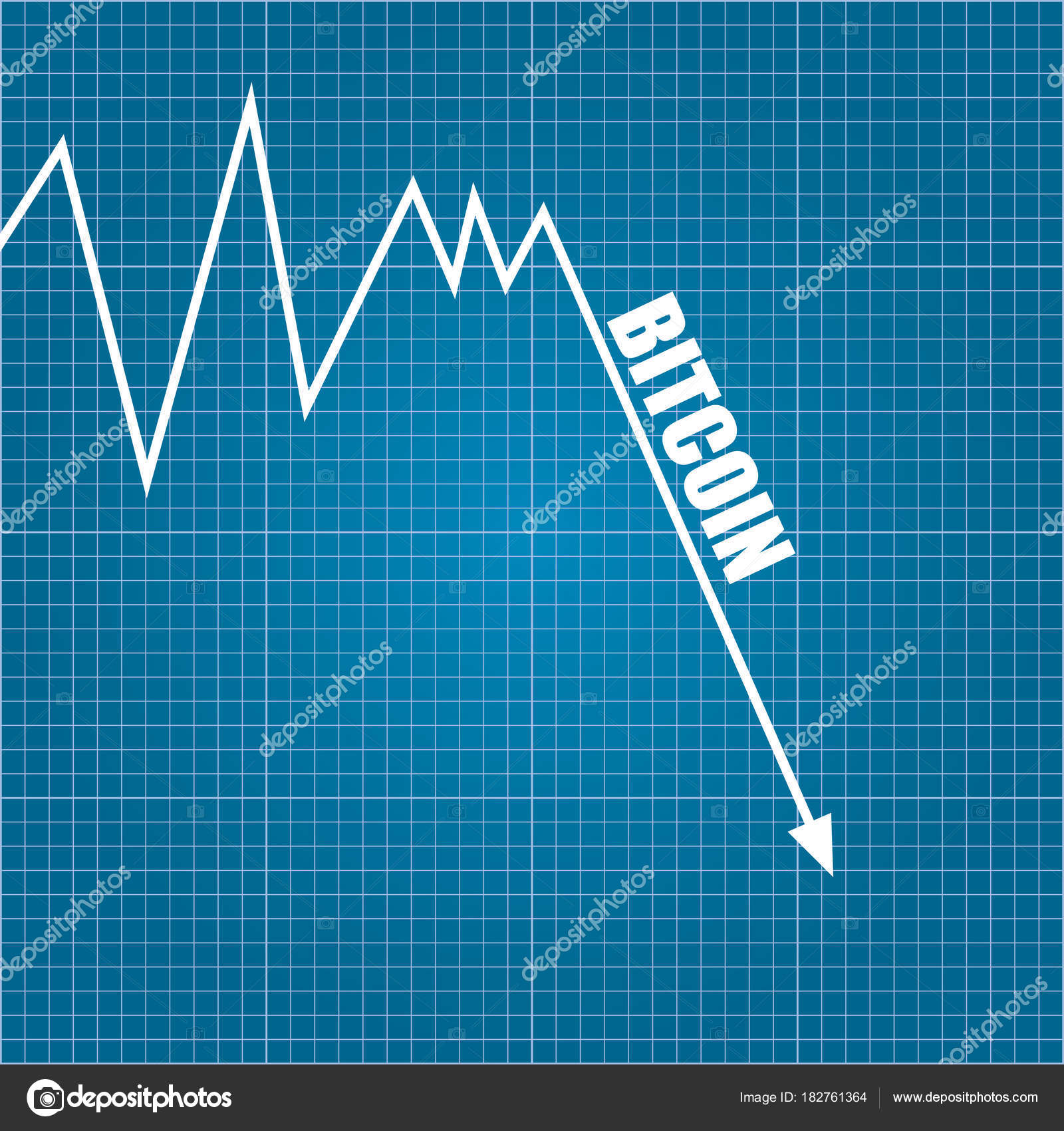 Vector bitcoin market crash graph on blueprint background bitcoin vector bitcoin market crash graph on blueprint background bitcoin hype concept vector illusrtation with blank malvernweather Gallery
