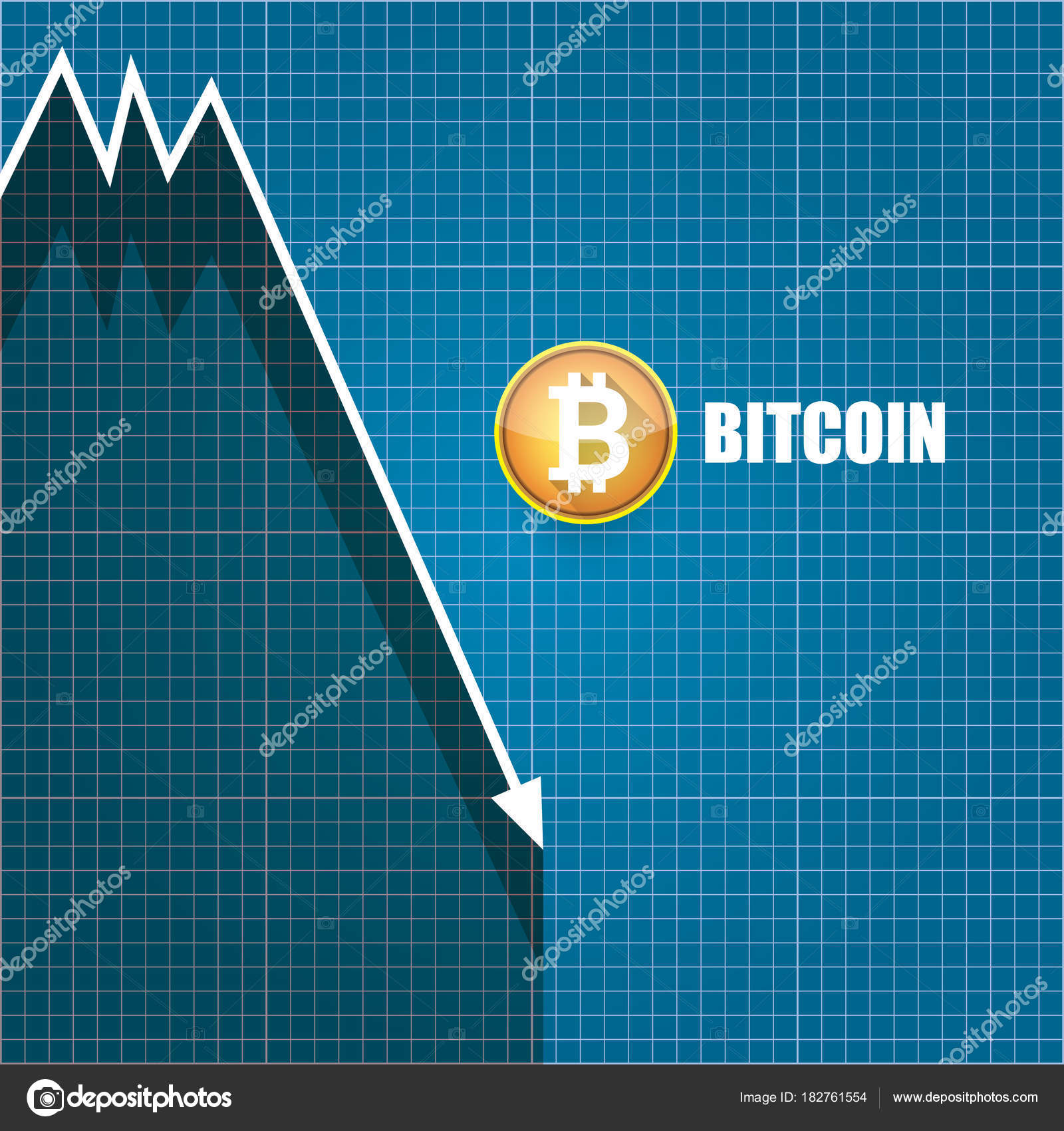 Vector bitcoin market crash graph on blueprint background bitcoin vector bitcoin market crash graph on blueprint background bitcoin hype concept vector illusrtation with blank malvernweather