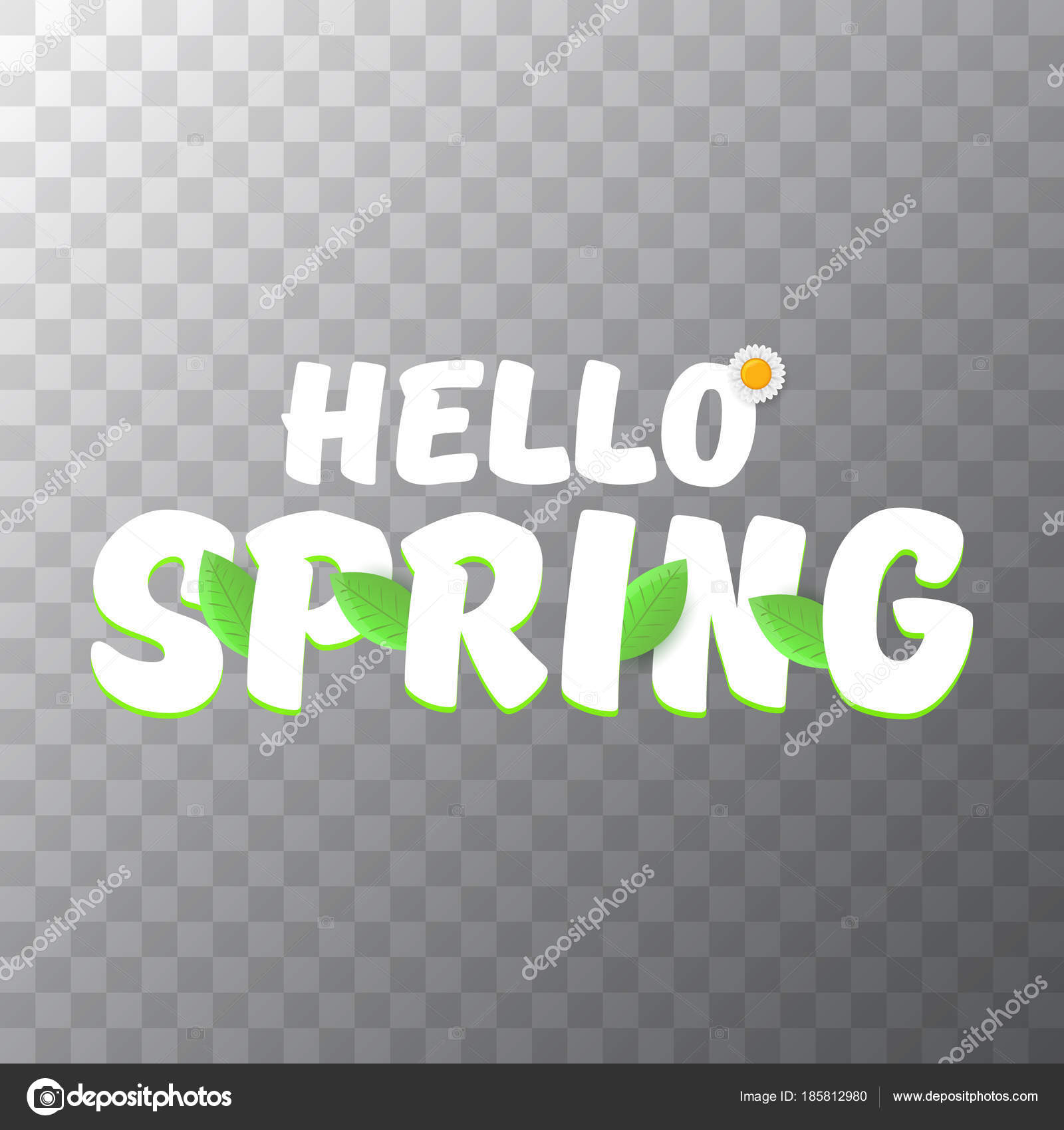 vector hello spring cut paper banner with text and flowers hello