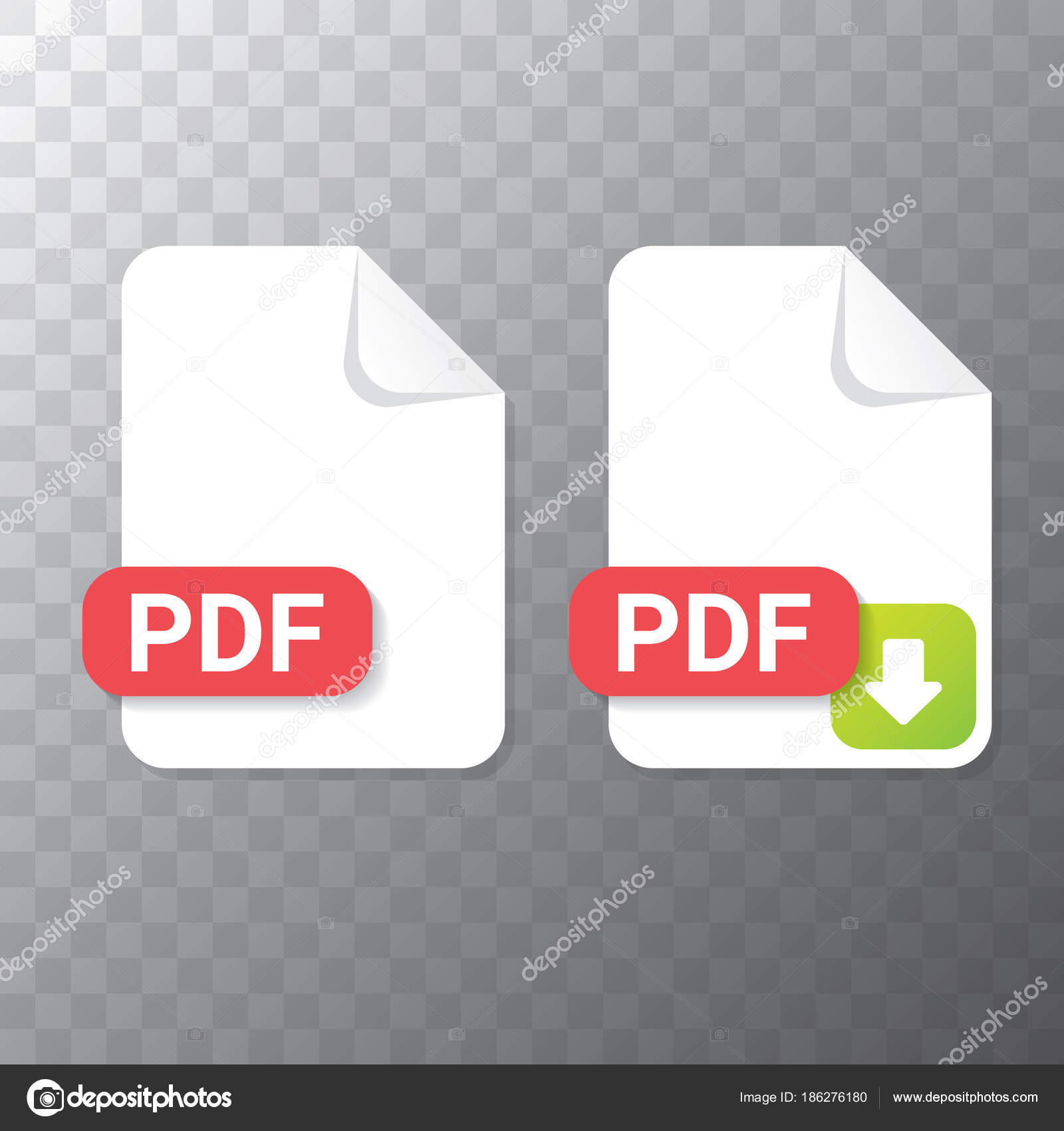 flache Pdf-Dateisymbol Vektor und Vektor-Pdf download Icon-Set ...
