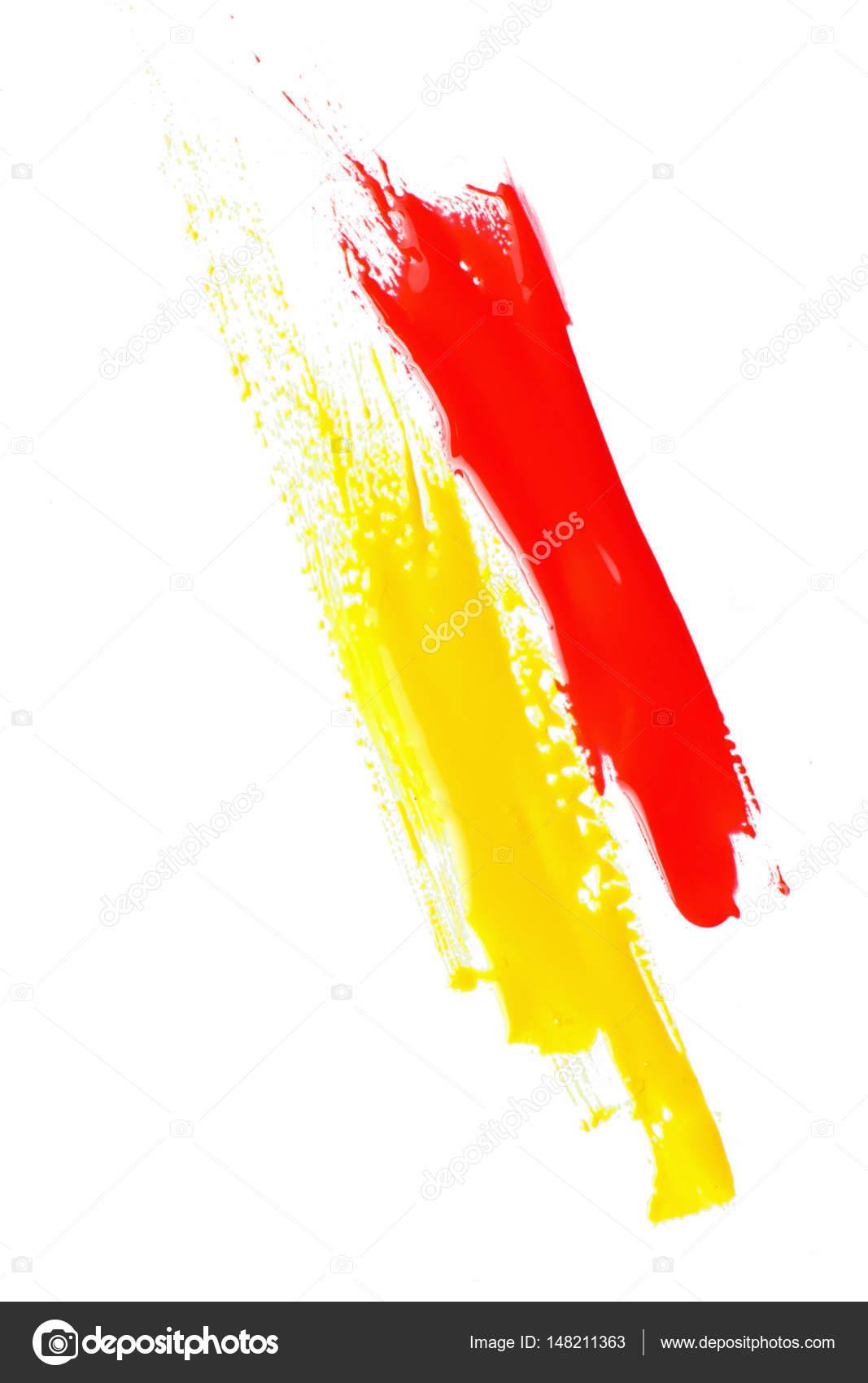 Peinture Abstraite Moderne Couleur Rouge Et Jaune Photographie