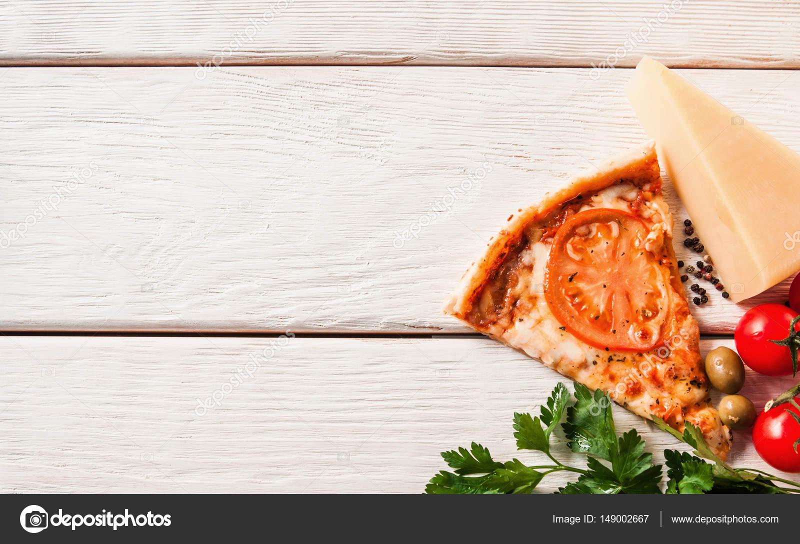 Pizza Italiana Sabrosa Fresca. Fondo De Comida Rápida