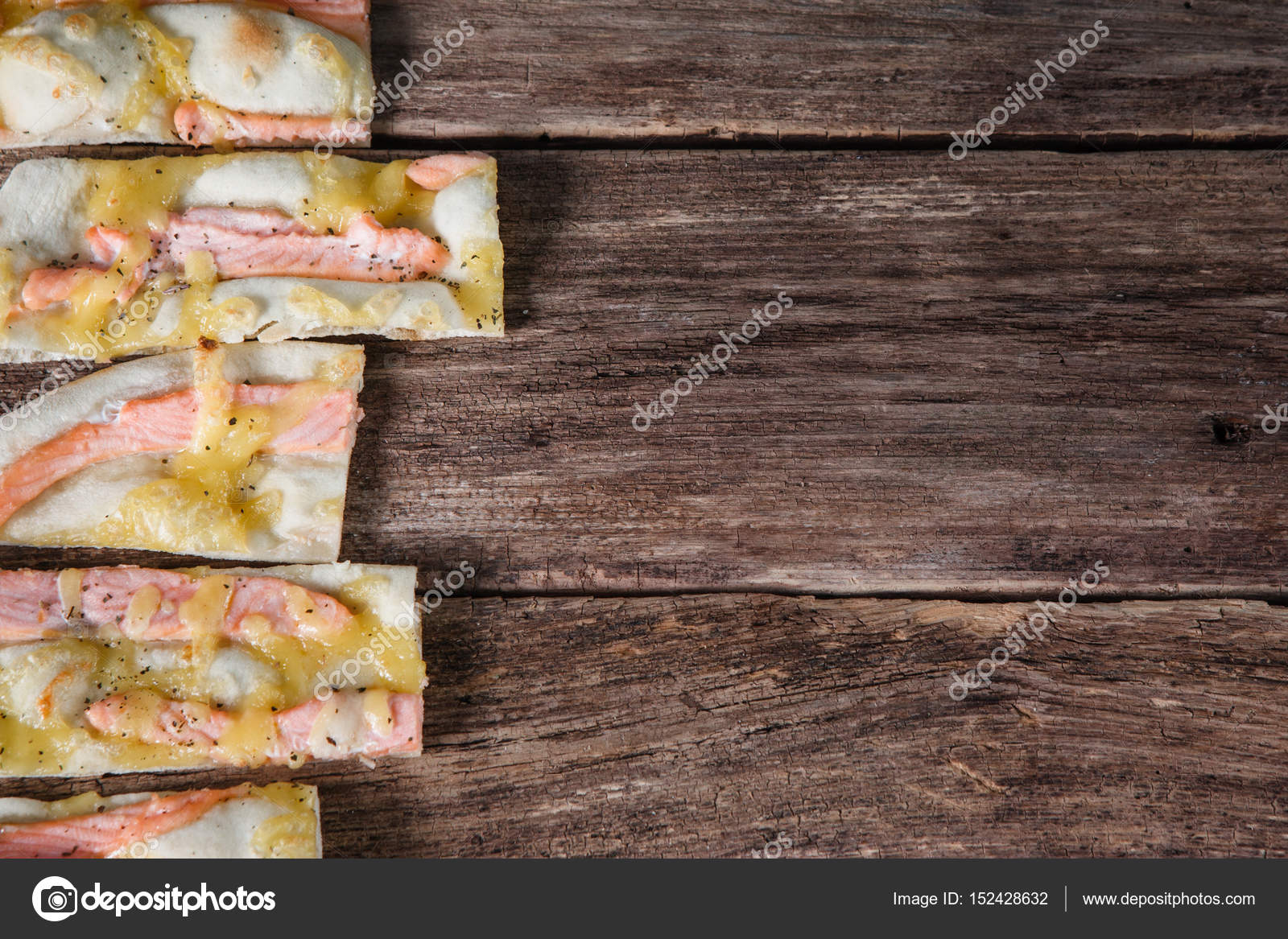 Italian National Food Background Slices Of Appetizing Pizza On Wooden Rustic Table With Free Space For Text Flat Lay Photo By Golubovystock