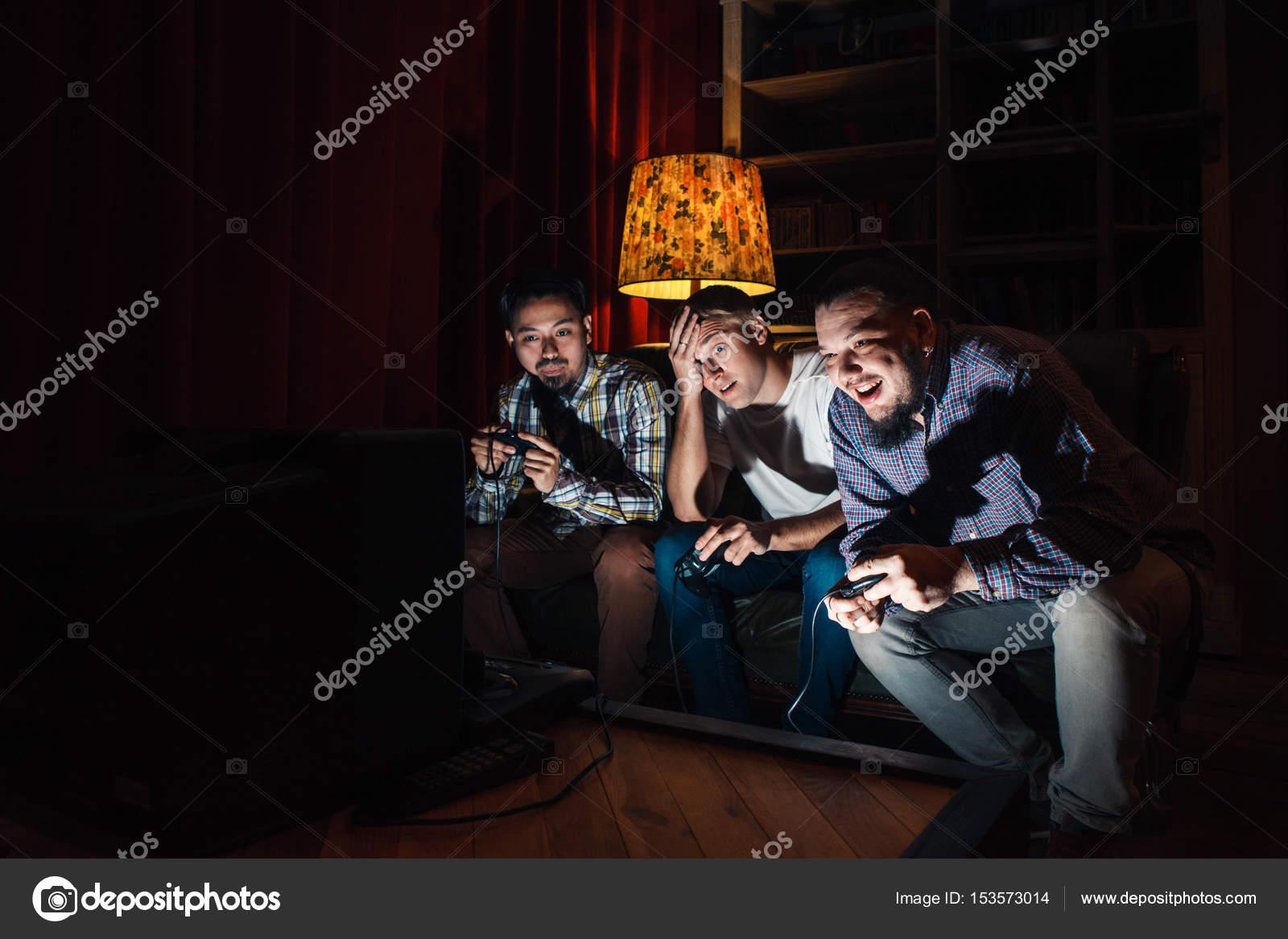 Three guys play around