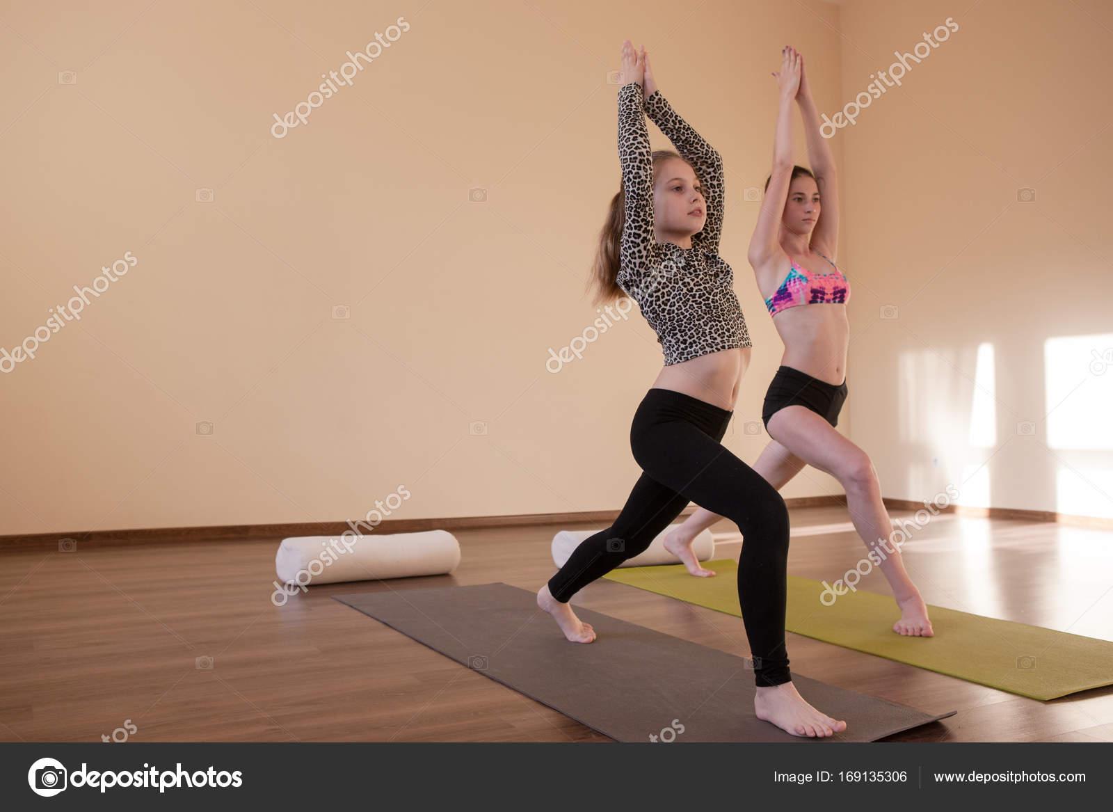 Teenage Sport Yoga For Kids Stock Photo C Golubovystock 169135306