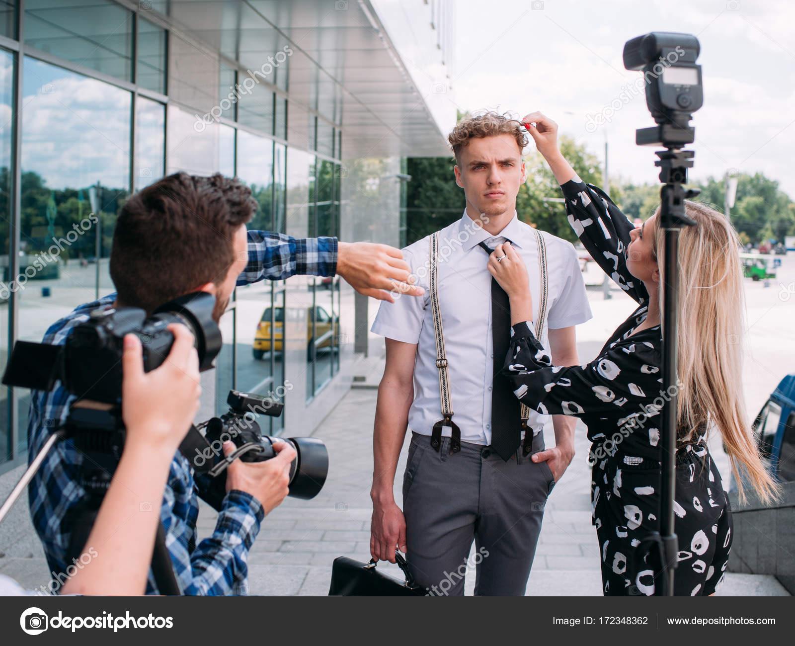 Iets Nieuws fotograaf richtingen creatieve ideeën fotoshoot — Stockfoto &KG06