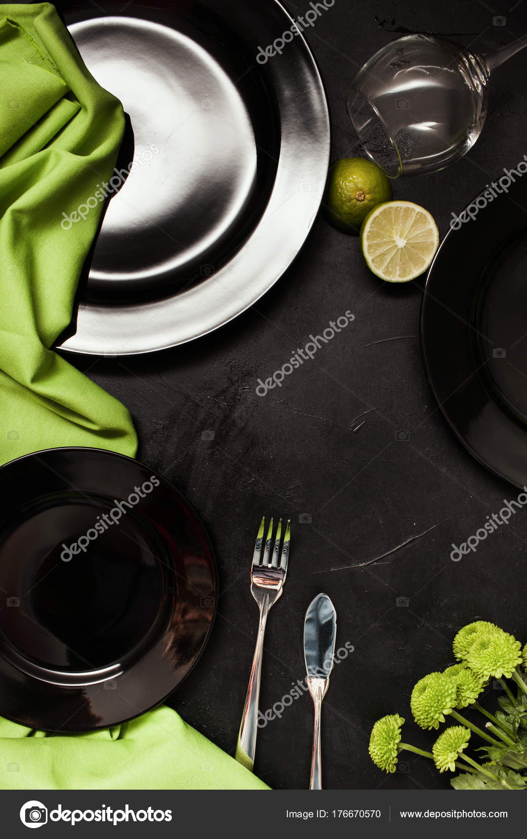 Fancy Restaurant Table Setting Creative Style Stock Photo - Fancy restaurant table