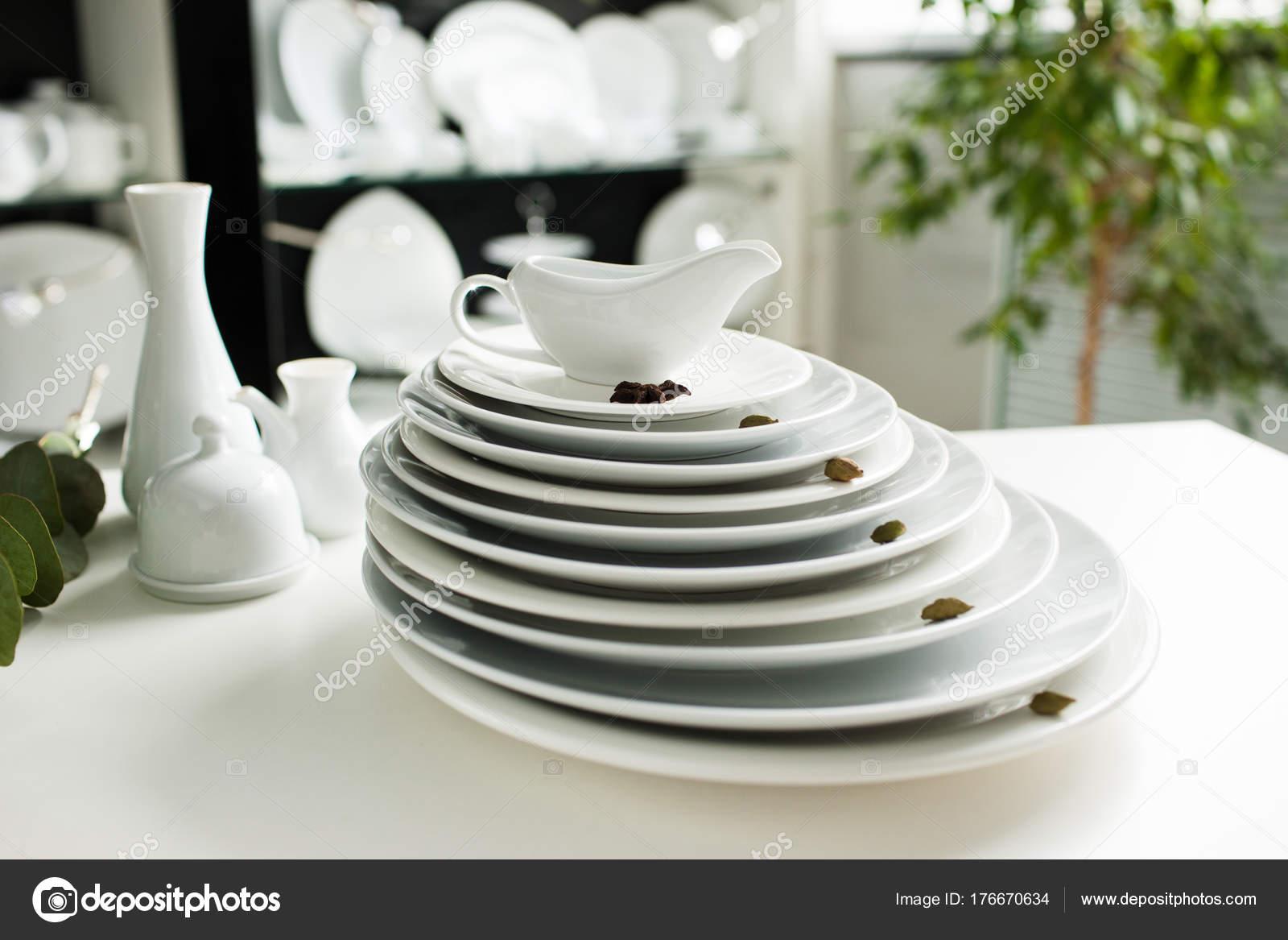 Restaurant white tableware assortment. Stylish crockery set. Purity and luxury concept \u2014 Photo by golubovystock & white tableware stylish luxury crockery \u2014 Stock Photo ...