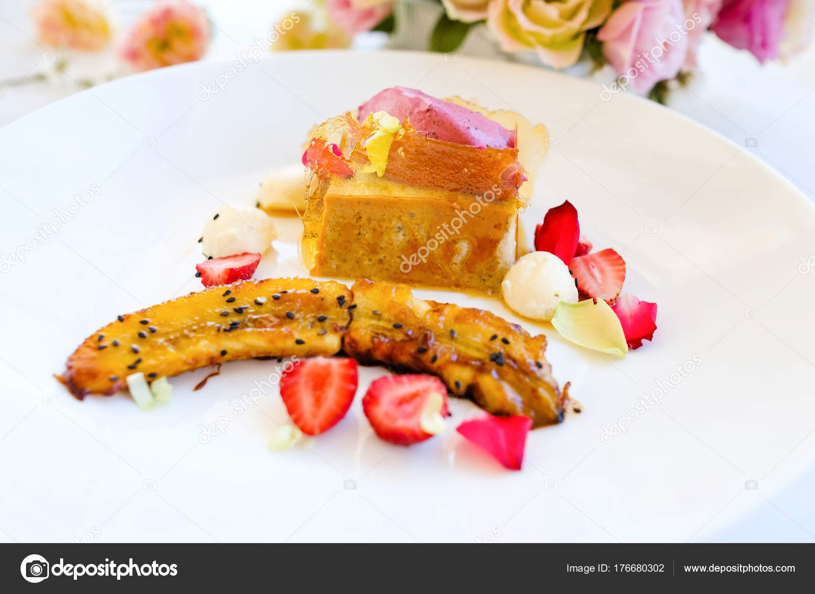 Receita De Sobremesa De Confeitaria Gourmet Fotografias De Stock