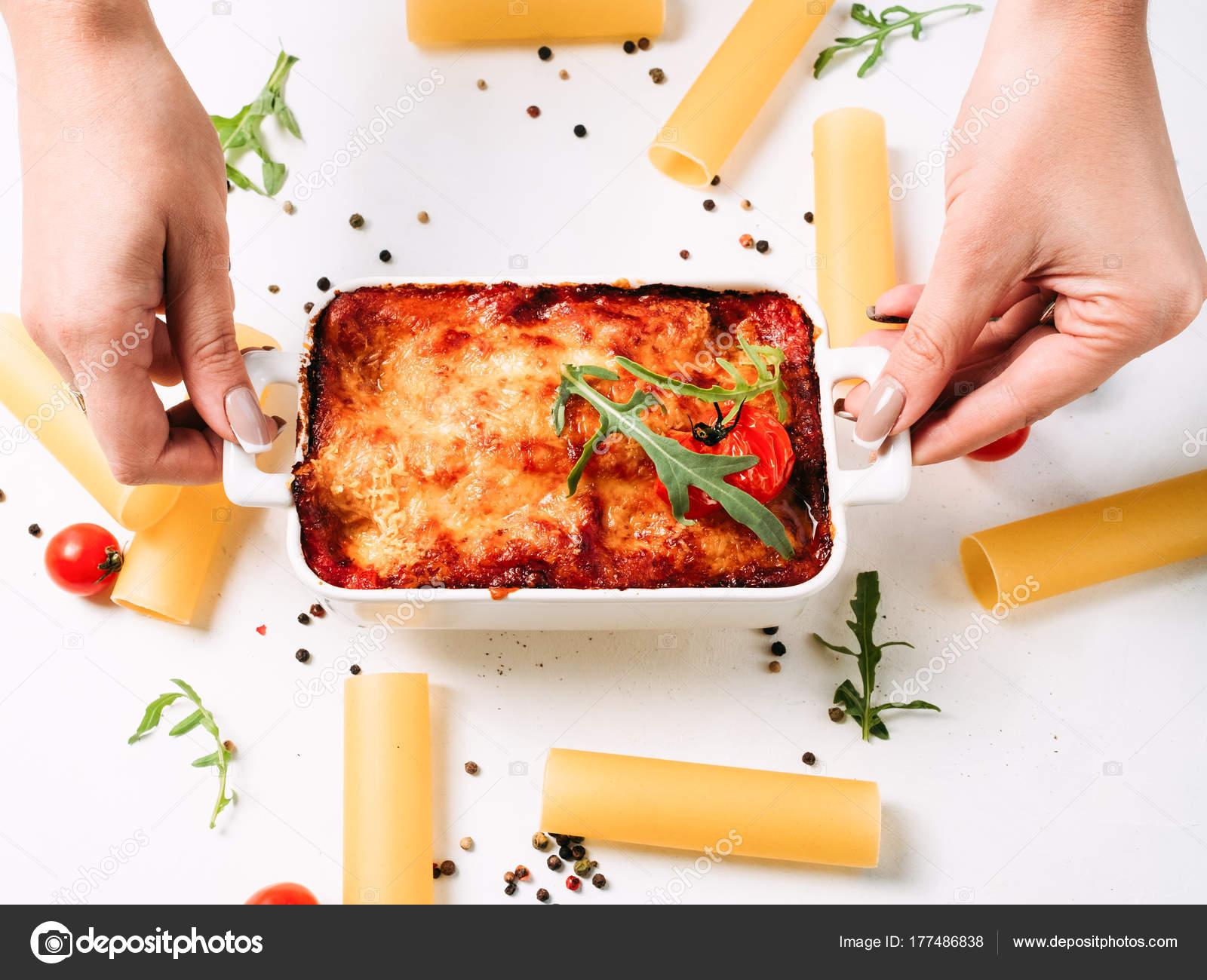 Receita De Delicioso Prato Da Cozinha Italiana Stock Photo