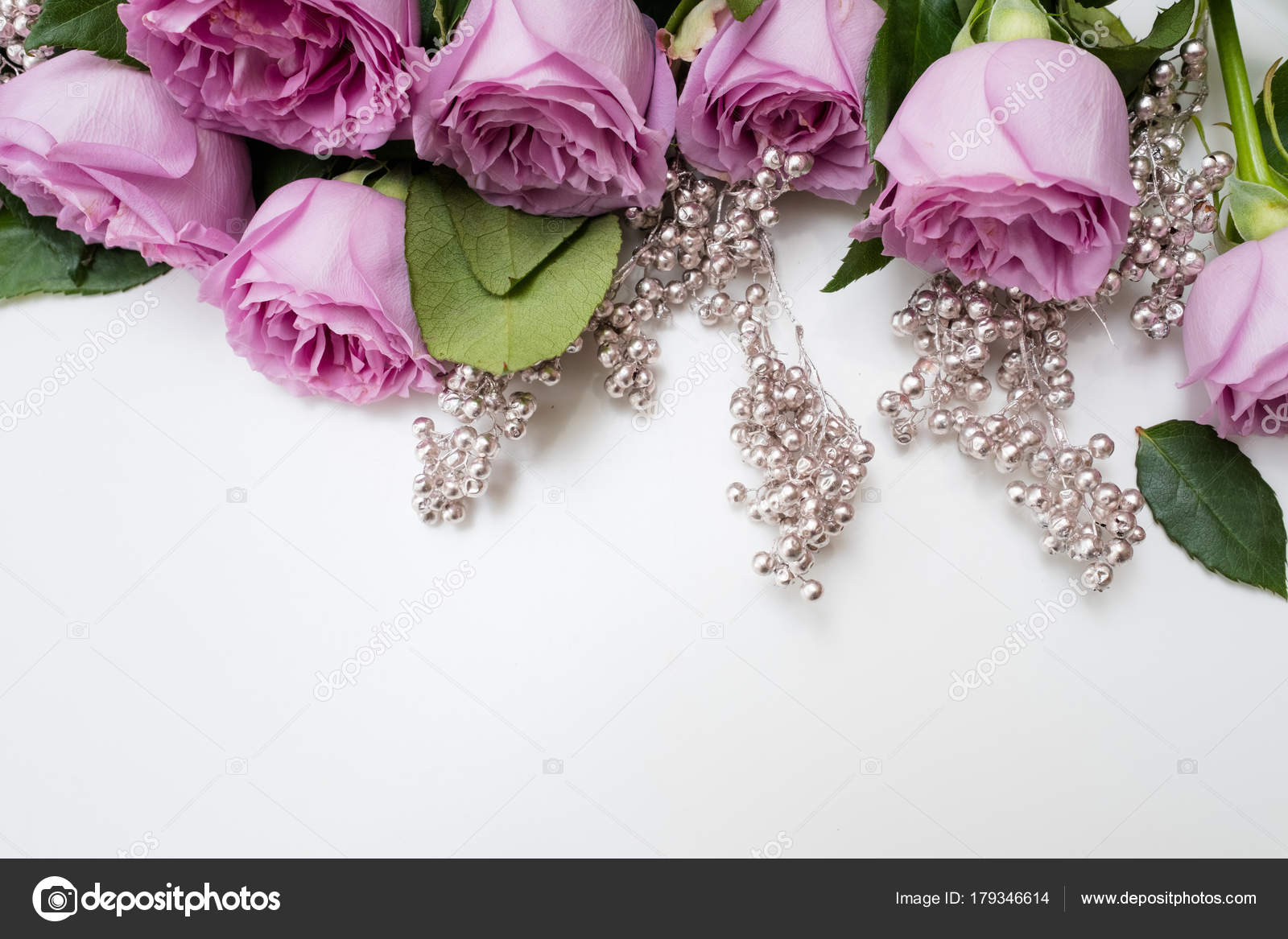 Spring Wedding Flowers Pink Roses Arrangement Stock Photo