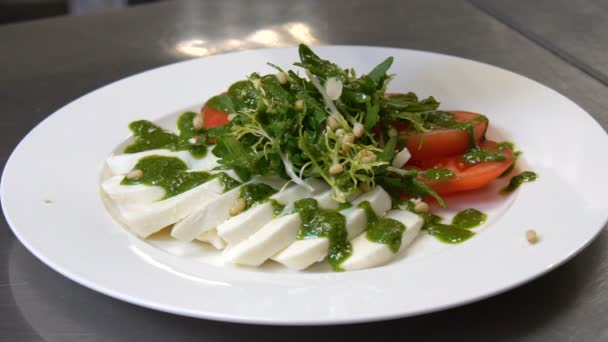 Restaurace zdravé jíst jídlo salát výzdoba