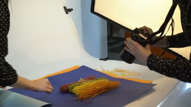 backstage food photography taking photo workspace