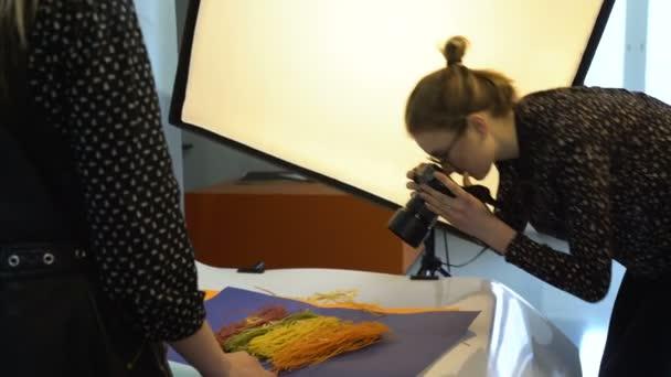 backstage food photography studio photoshoot