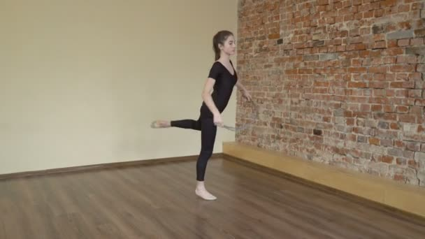 sportovní fitness cvičení gymnastiky lano trénink