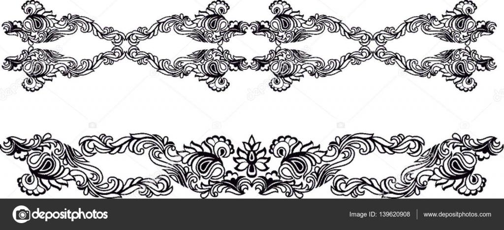 Hermosa Húngaro del arte popular — Vector de stock ...