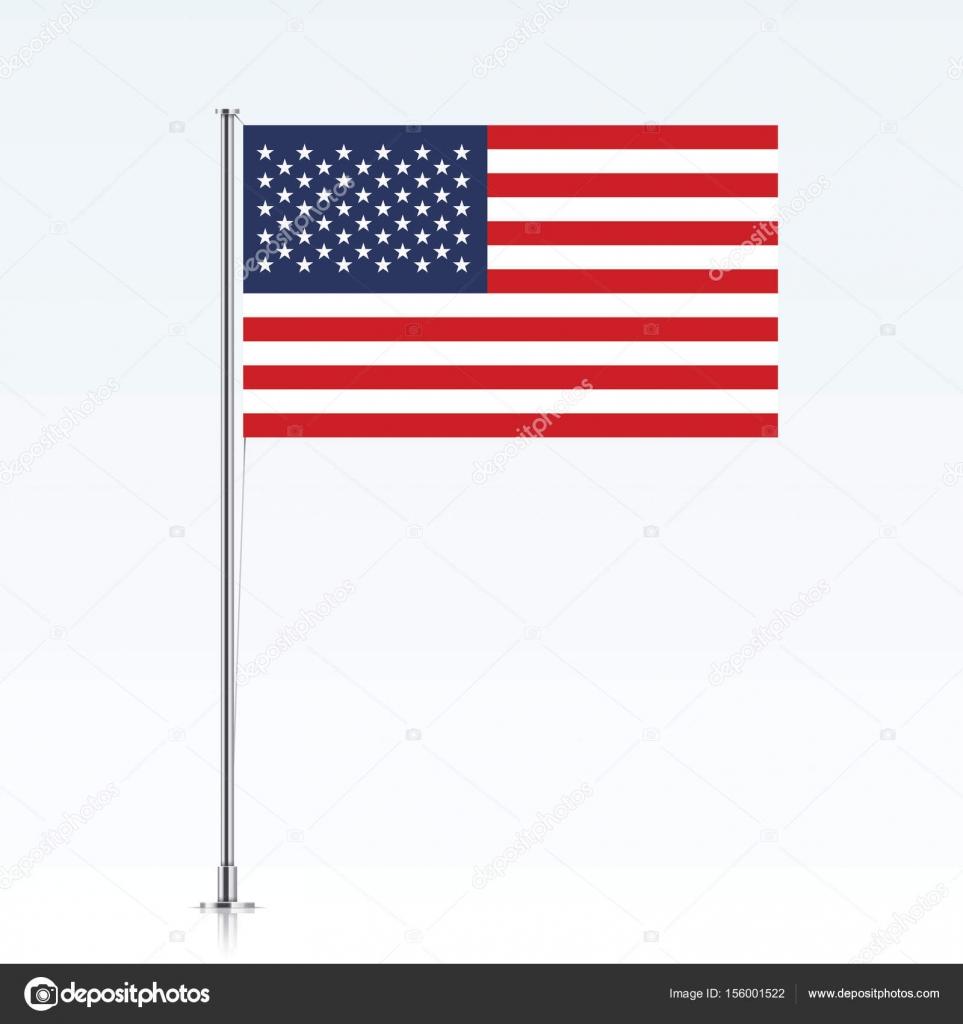 USA-Flagge auf einem metallischen Mast — Stockvektor © topicha ...