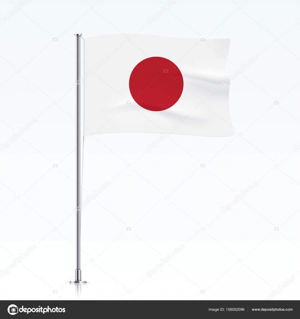 japan flag waving on a metallic pole. — stock vector © topicha, Powerpoint templates