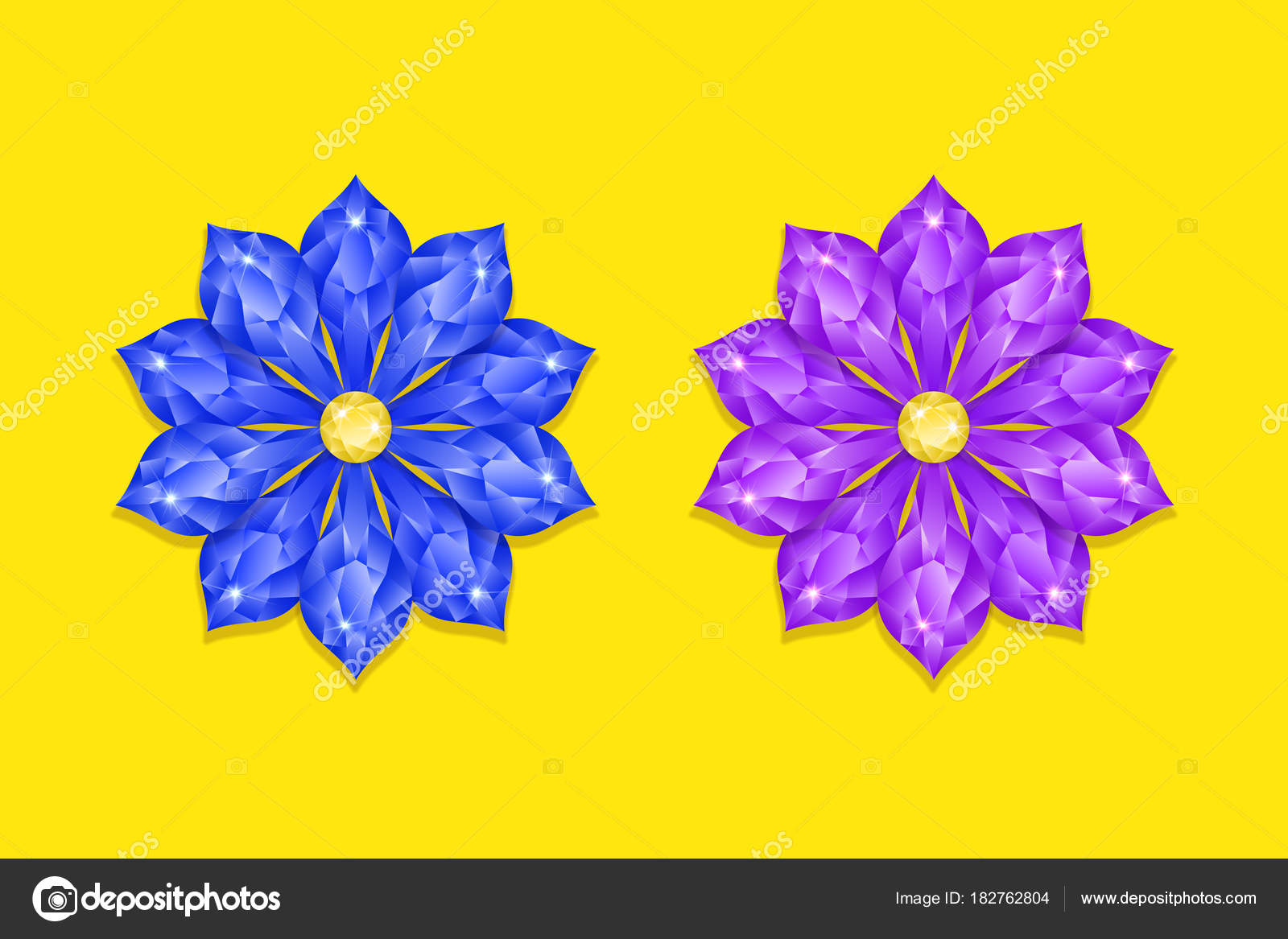 Blue and purple diamond flower stock vector artskill2k17gmail blue and purple diamond flower stock vector izmirmasajfo