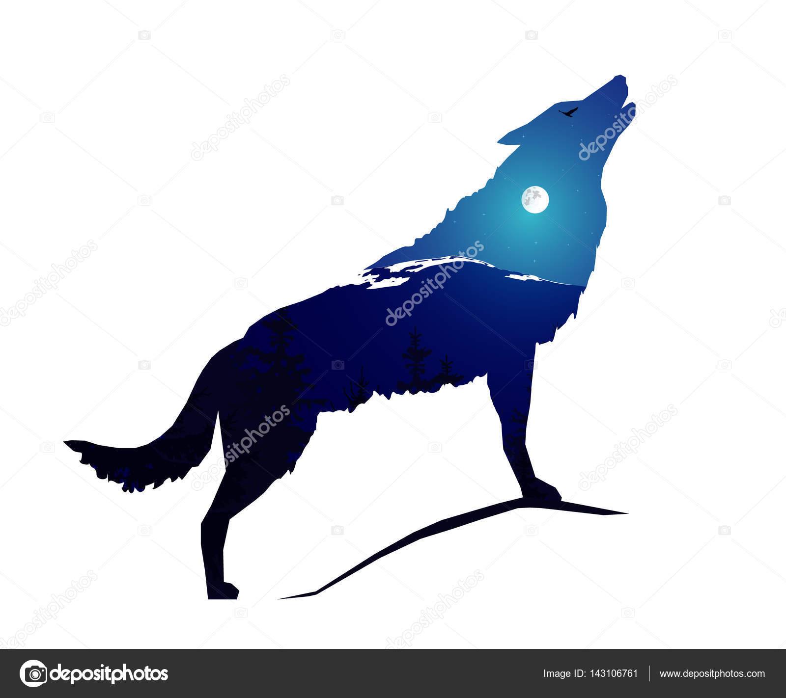 silhueta de lobo vetor de stock yik2007 143106761