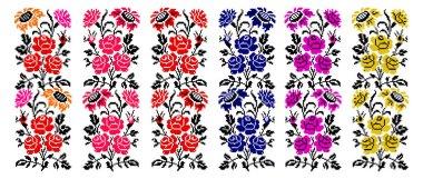 Set. Bouquet of flowers