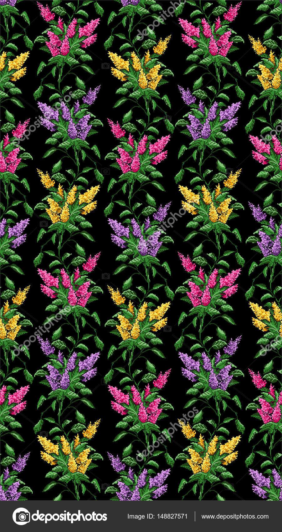 Sans Soudure Modèle Couleur De Bouquet De Fleurs Photographie