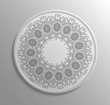 Circular floral lace