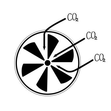 Fan air propeller icon.