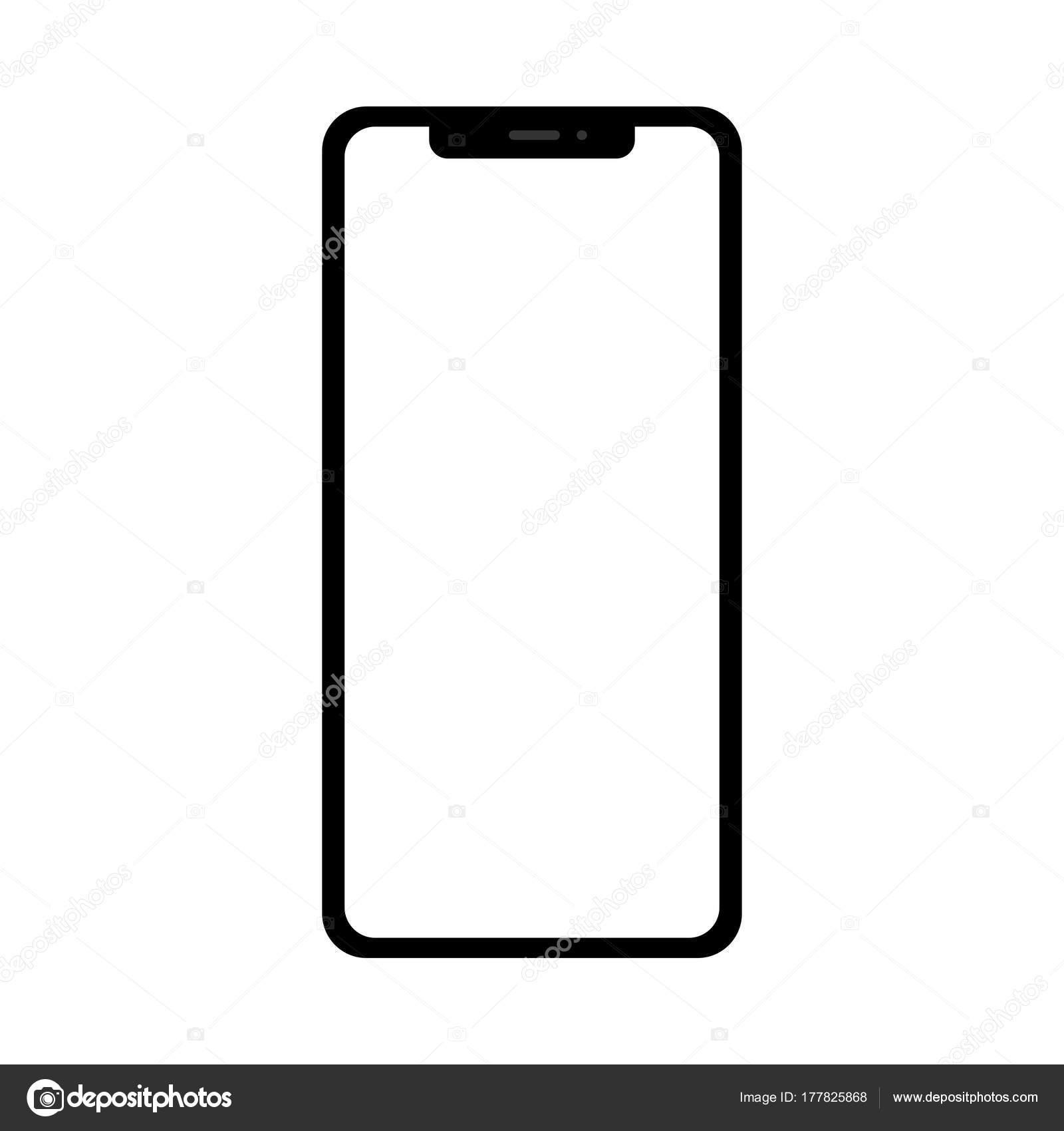 Telefono Cellulare Smartphone Tablet Touch Moderno Isolato Sfondo